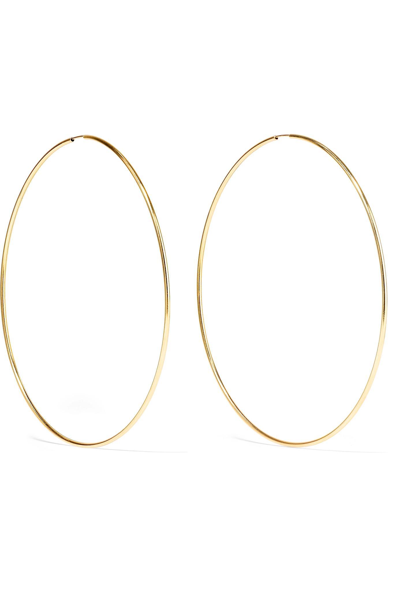 Loren Women S Metallic Infinity 10 Karat Gold Hoop Earrings