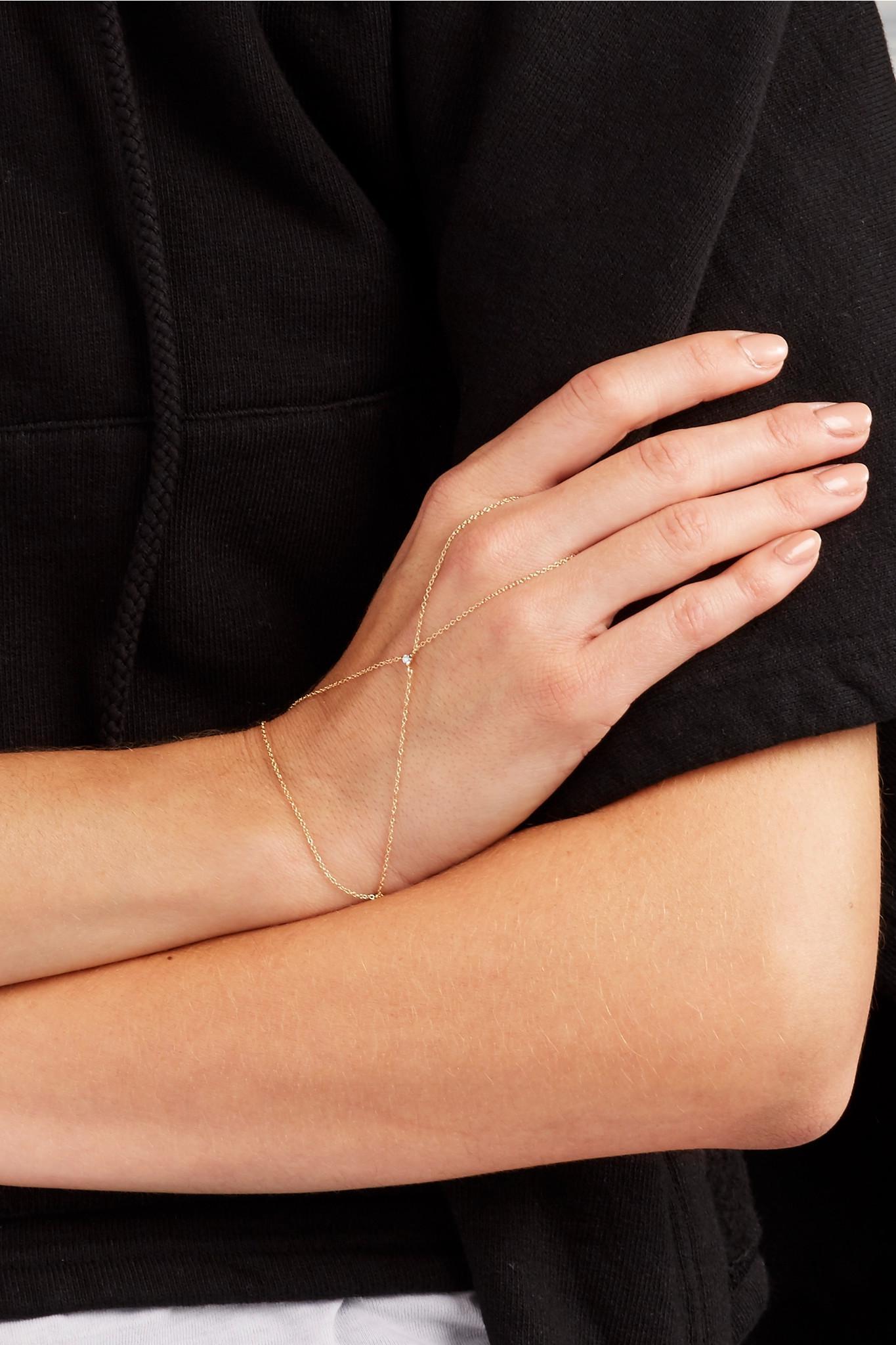 Catbird Kitten Mitten 14-karat Gold Diamond Bracelet tyeTxury