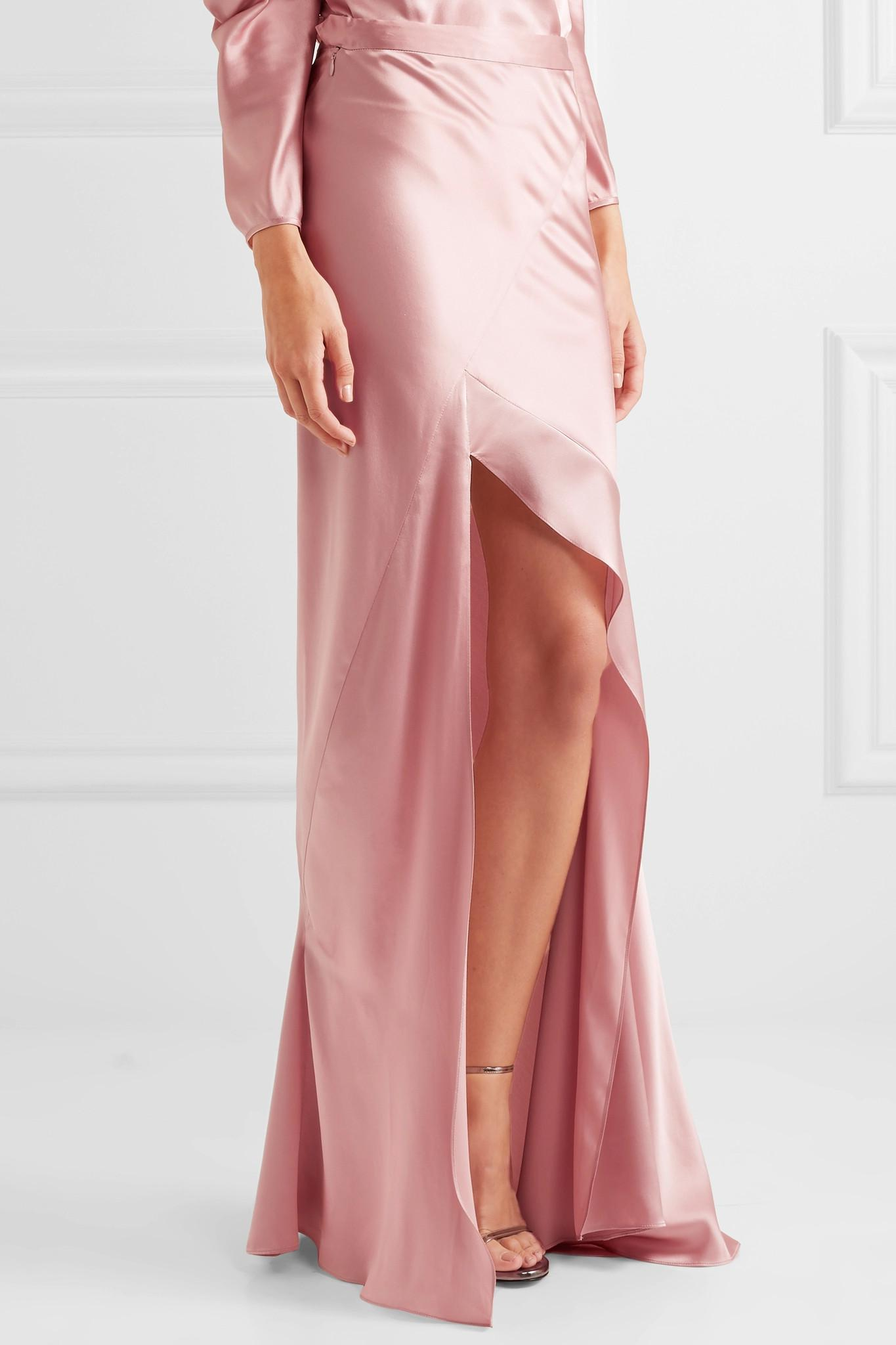 4ff5a87a5e Michelle Mason Long Skirt in Pink - Lyst