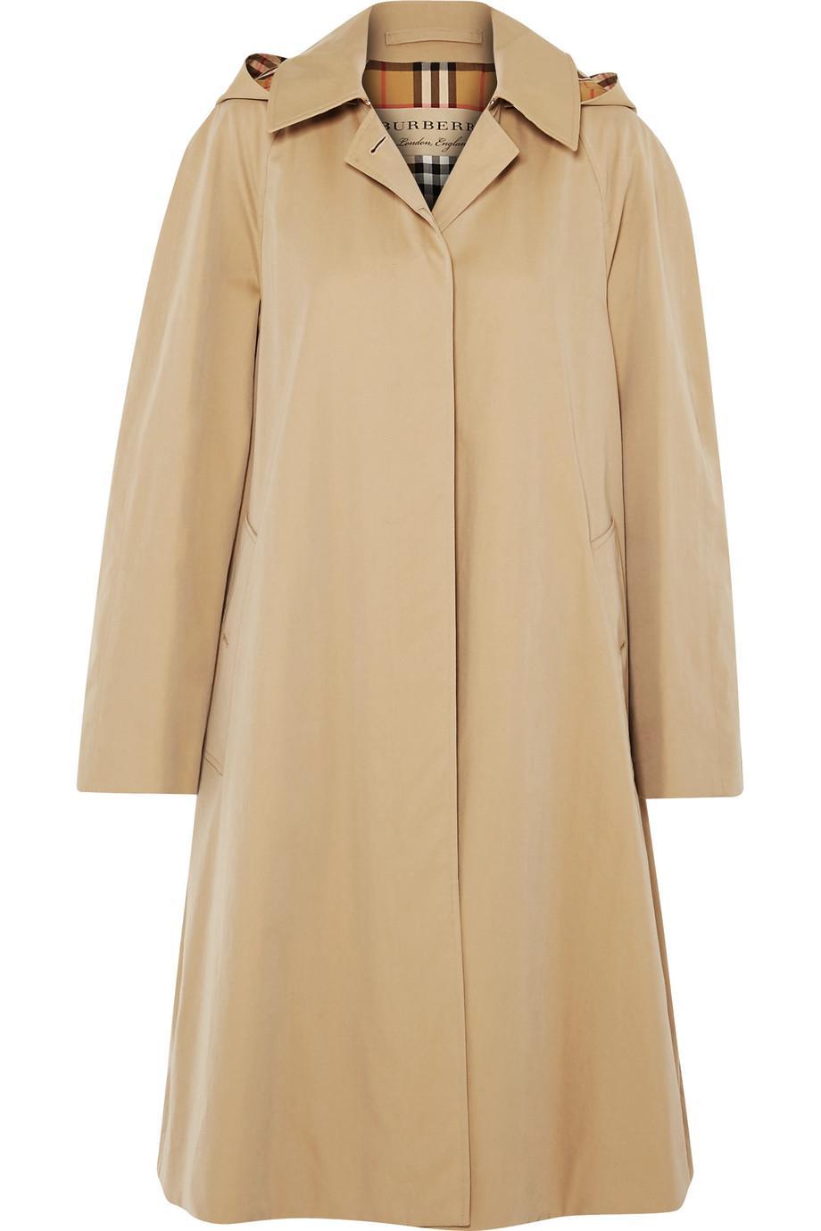 Safe Payment Outlet Order Online Oversized Hooded Cotton-gabardine Trench Coat - Beige Burberry g3MhSOa
