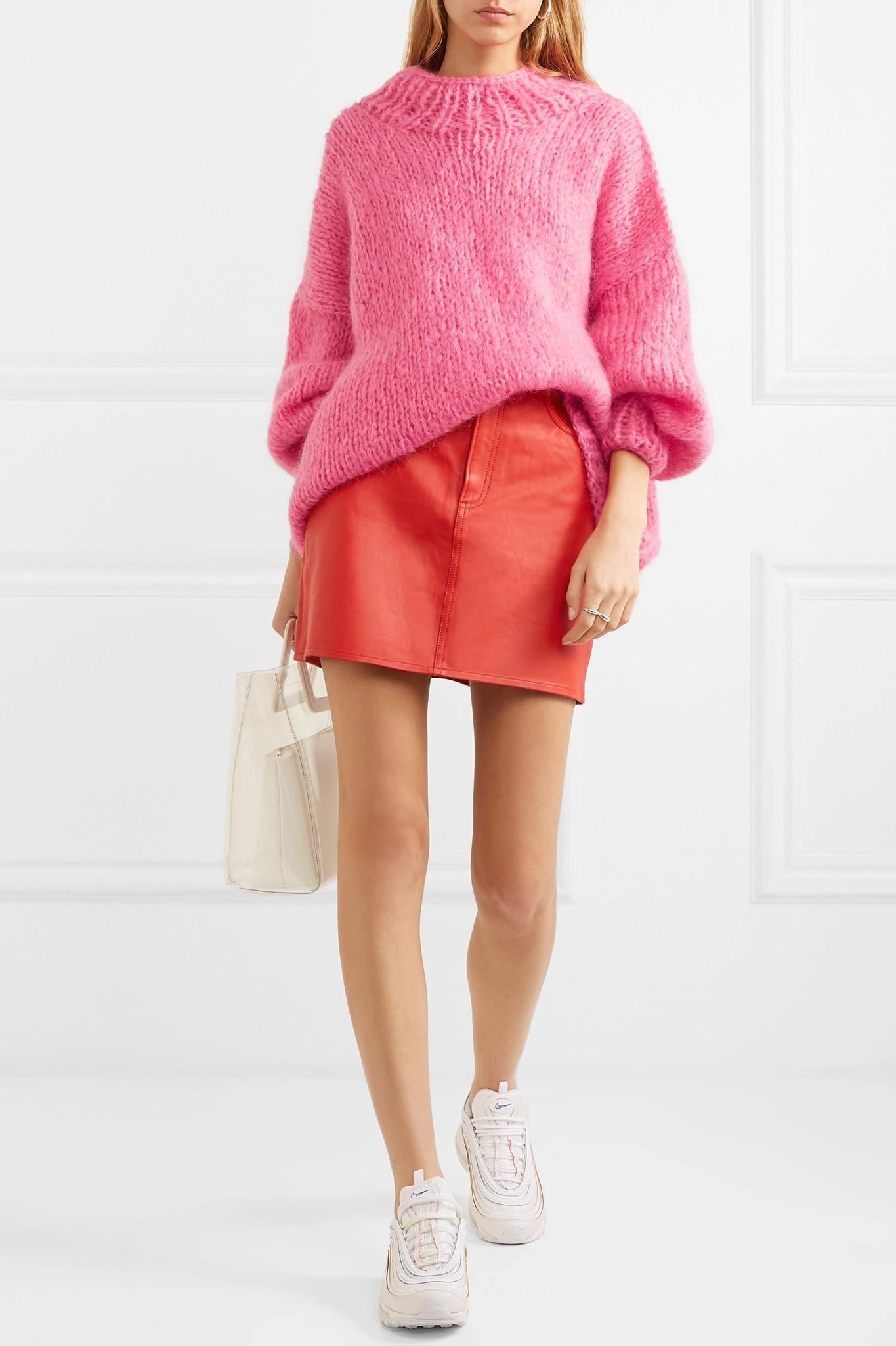 The Knitter - Pink The Bubblegum Mohair-blend Sweater - Lyst. View  fullscreen 141006abf