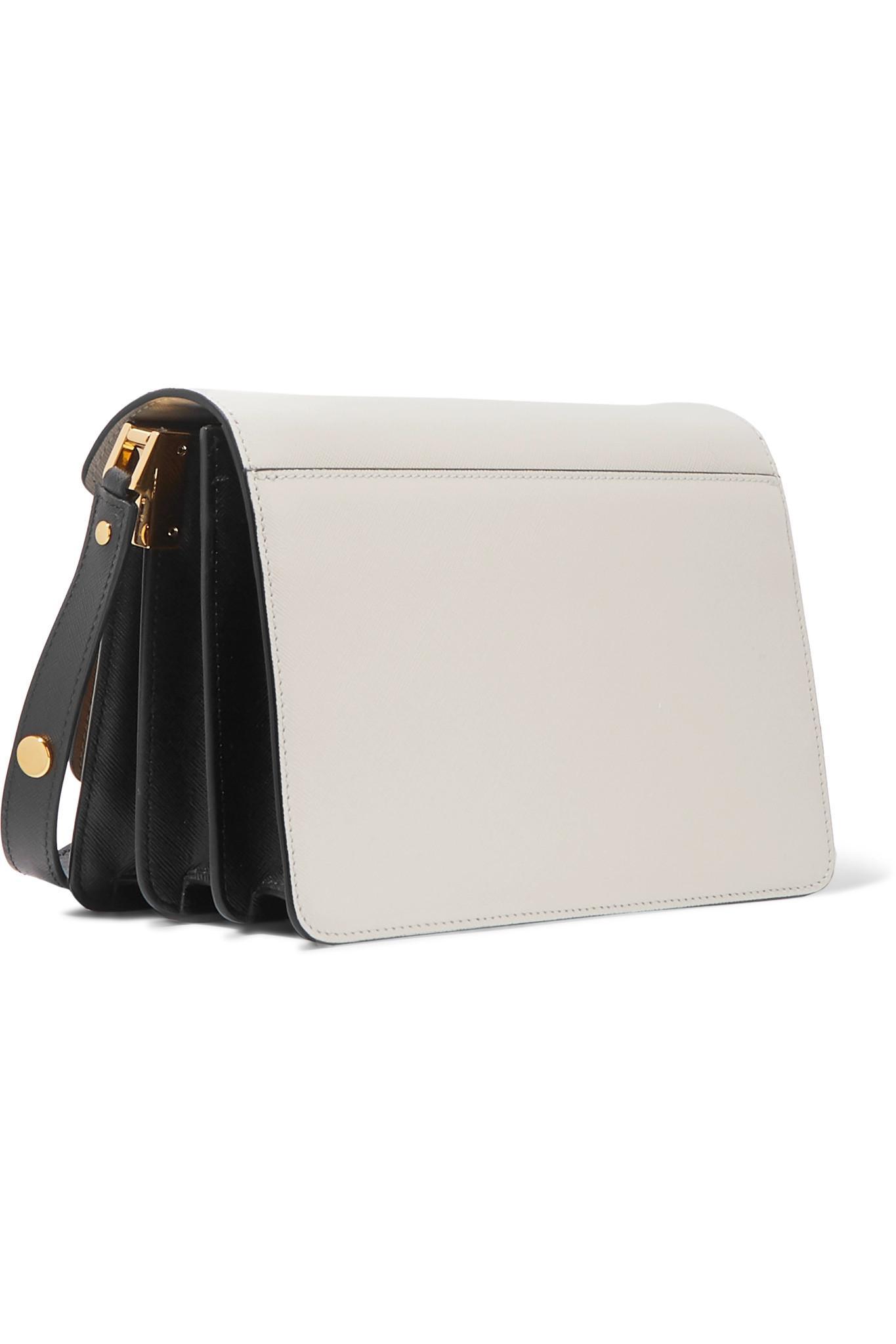 af7ba27447d7 Lyst - Marni Trunk Medium Color-block Textured-leather Shoulder Bag ...