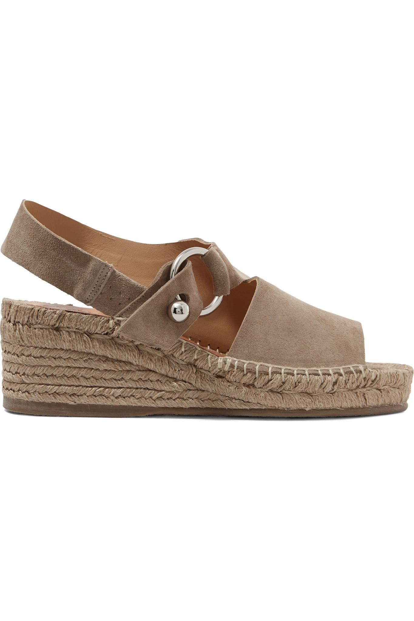 af00a14eb53 Lyst - Rag   Bone Arc Suede Espadrille Wedge Sandals in Natural