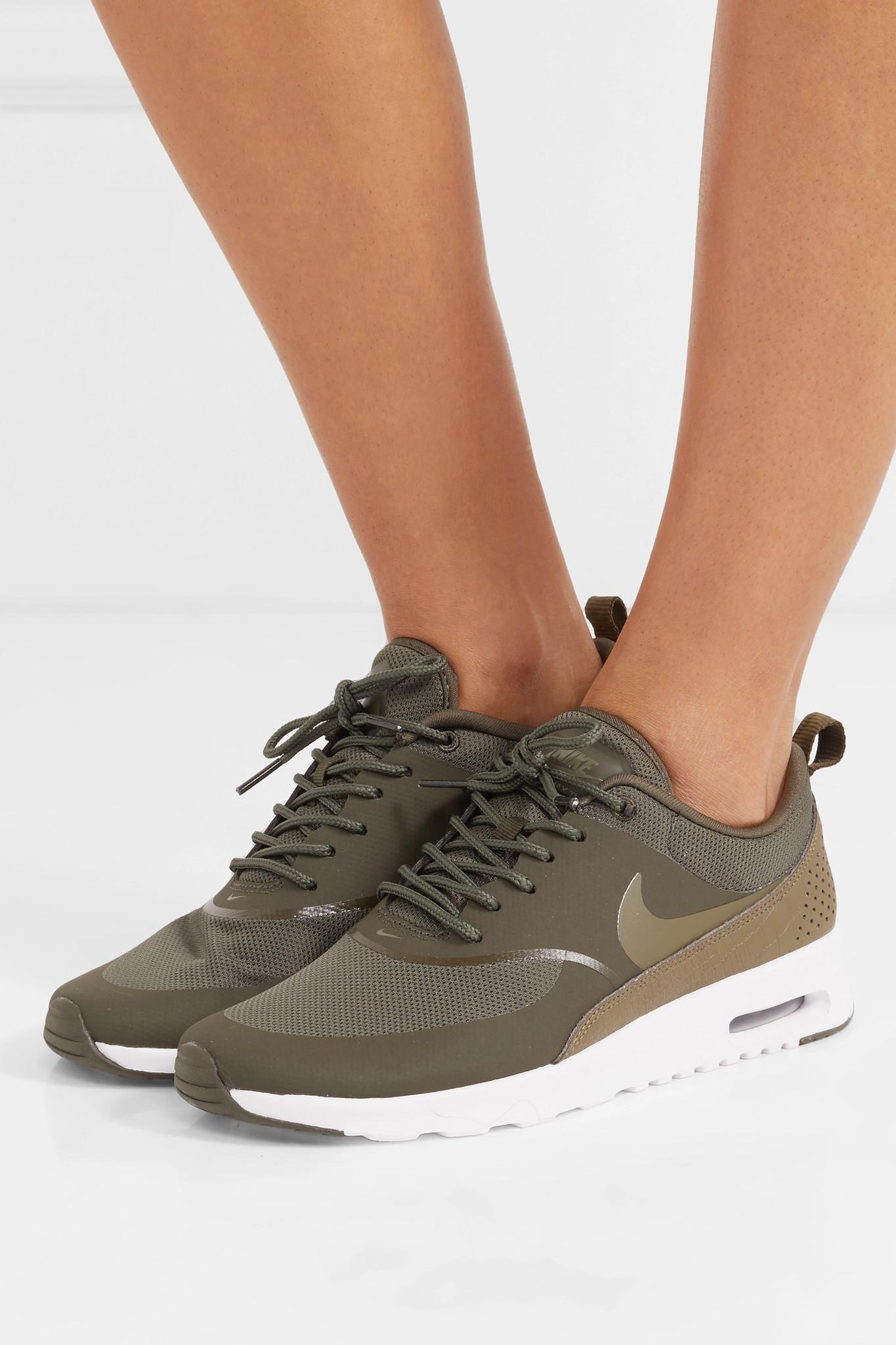 63064649e1 Nike Air Max Thea Rubber, Stretch-mesh And Croc-effect Leather ...