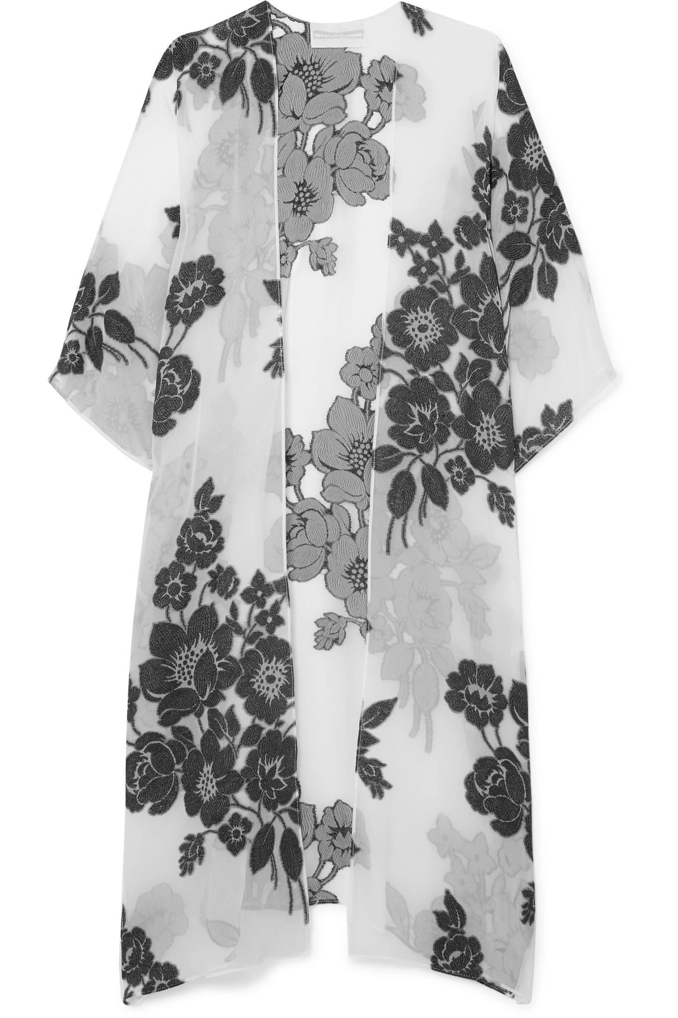 Metallic Floral Silk-blend Jacquard Maxi Dress - White Marie France Van Damme Clearance Original Clearance Very Cheap YWQOuTmCcI