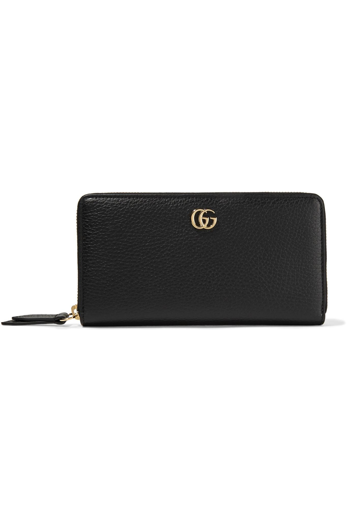 84e653880a8d63 Gucci Marmont Petite Textured-leather Wallet in Black - Save 7% - Lyst