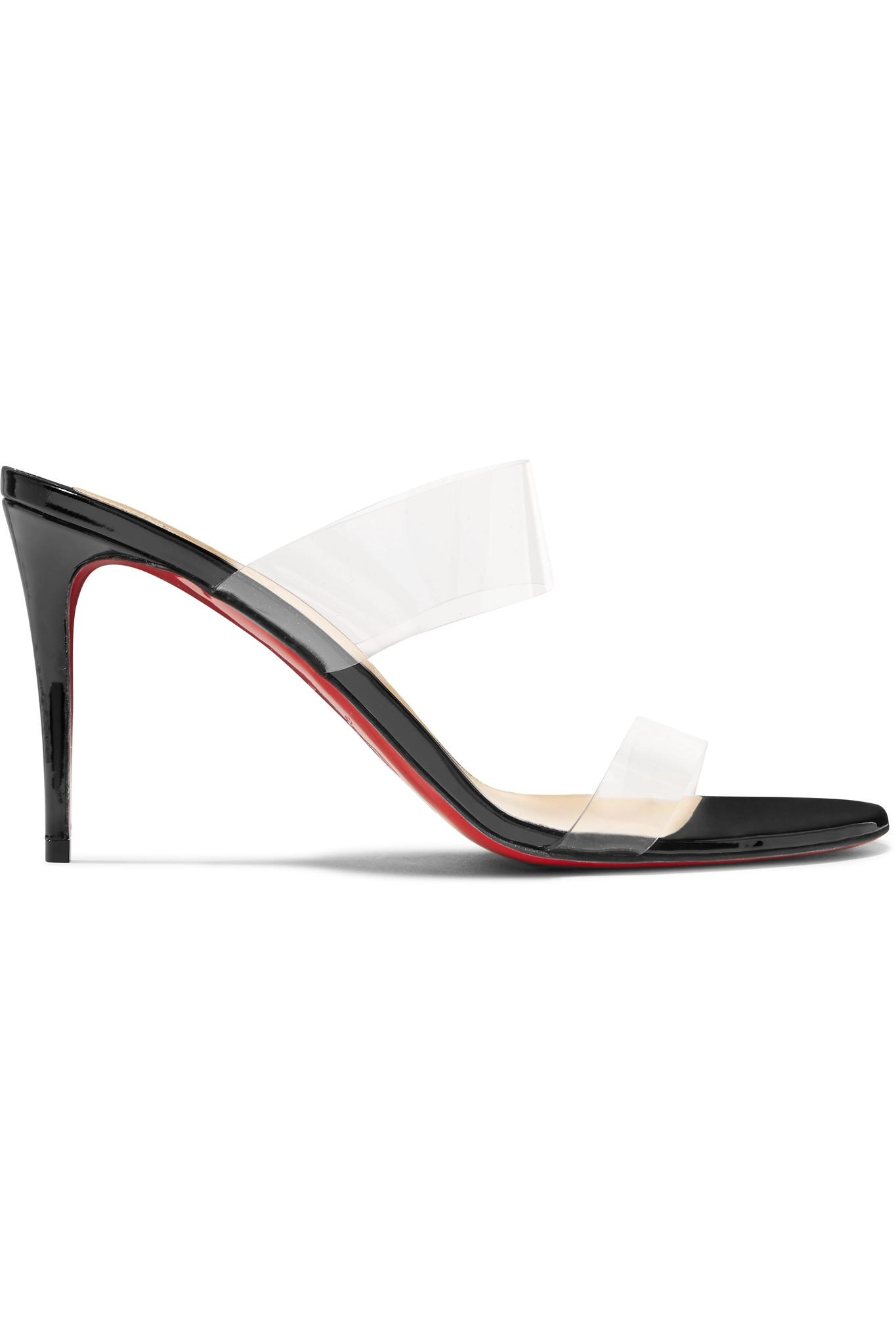 9c5c943b5c8 Lyst - Christian Louboutin Just Nothing 85 Pvc And Patent-leather ...