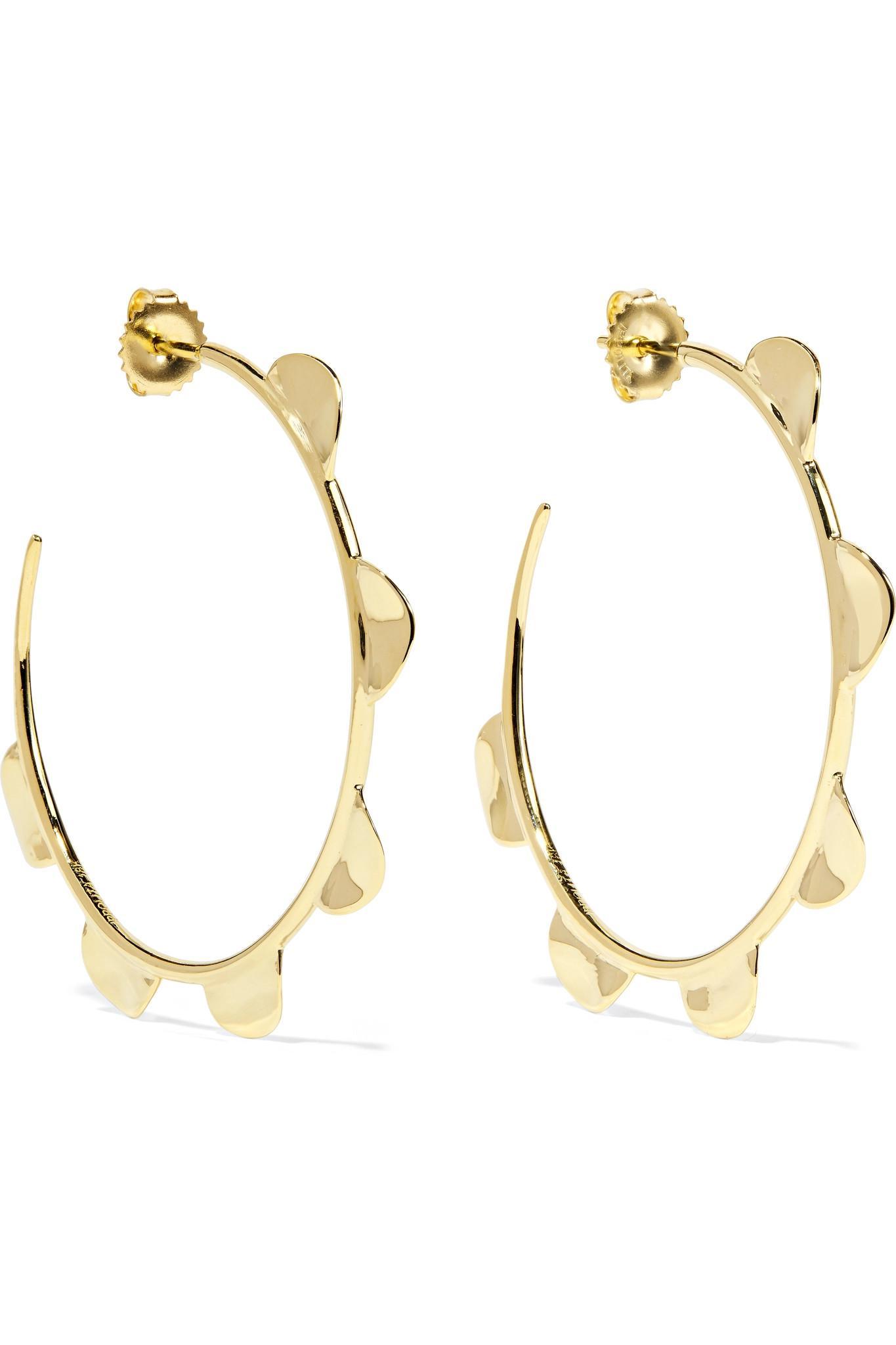 Ippolita Classico Half Wavy 18-karat Gold Hoop Earings x0RzvHWZ