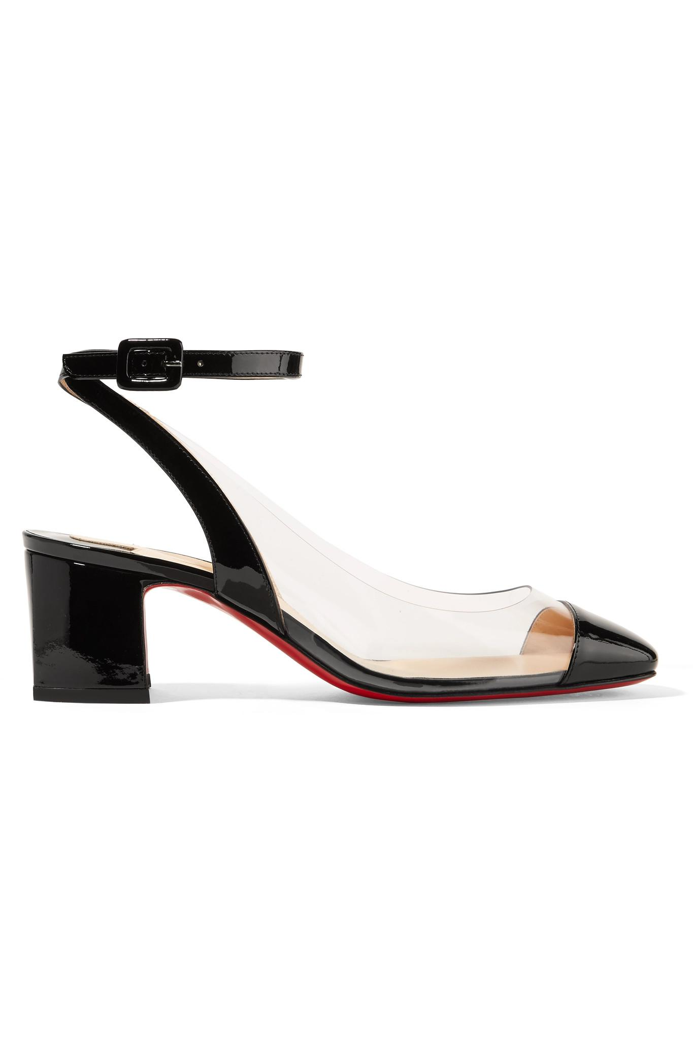 f42eec138547 Lyst - Christian Louboutin Asticocotte 55 Patent-leather And Pvc ...
