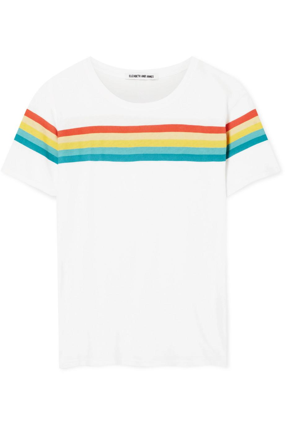 Lakota Striped Cotton-jersey T-shirt - White Elizabeth & James Cheap Wide Range Of 2018 Newest Sale Online Reliable For Sale Extremely Limited Edition Cheap Price 3tt0U9lc