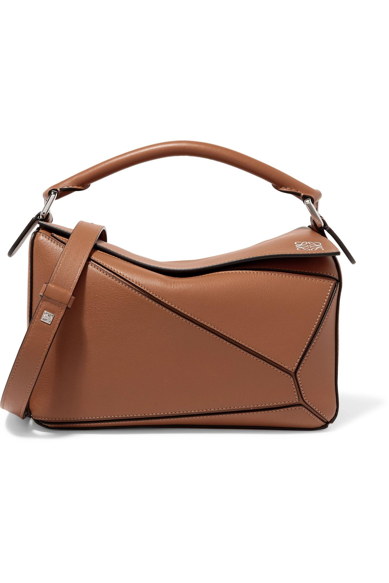 a927e10219b Lyst - Loewe Puzzle Small Textured-leather Shoulder Bag in Brown