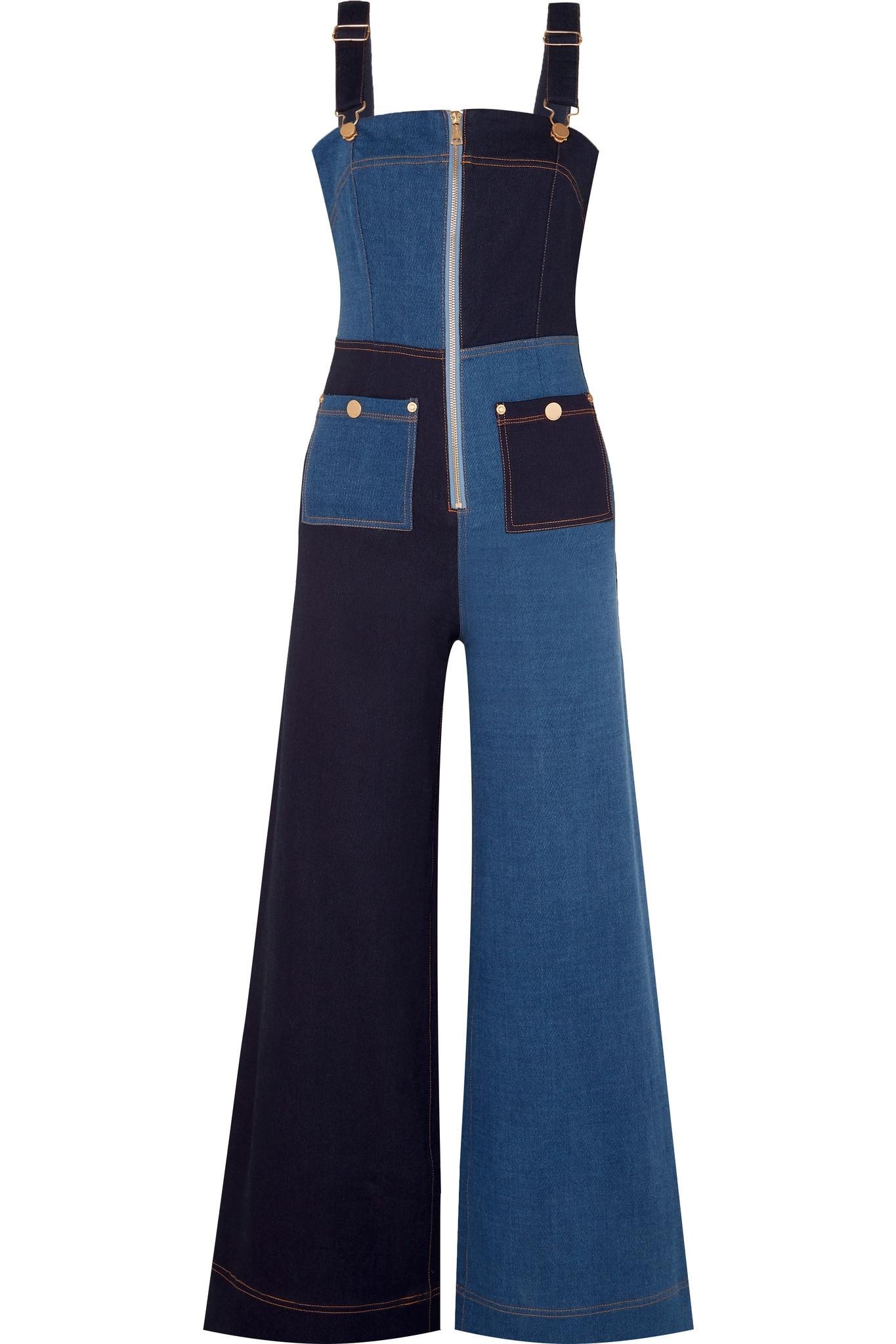 da0c0b95caf1 Alice McCALL Quincy Patchwork Denim Overalls in Blue - Lyst