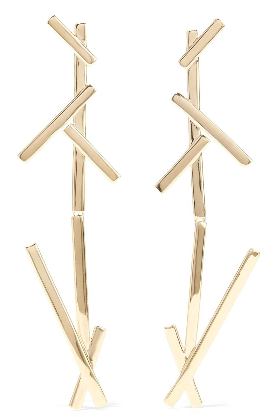 Jennifer Fisher + La Ligne Slash Duster Gold-plated Earrings qAdHzol7T