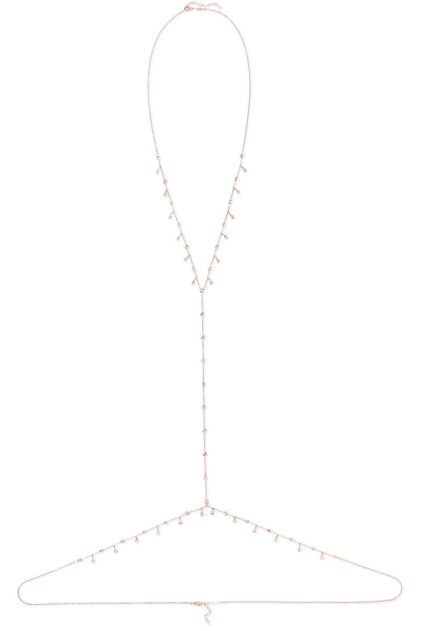 Jacquie Aiche 14-karat Rose Gold Diamond Body Chain VVOKgd99