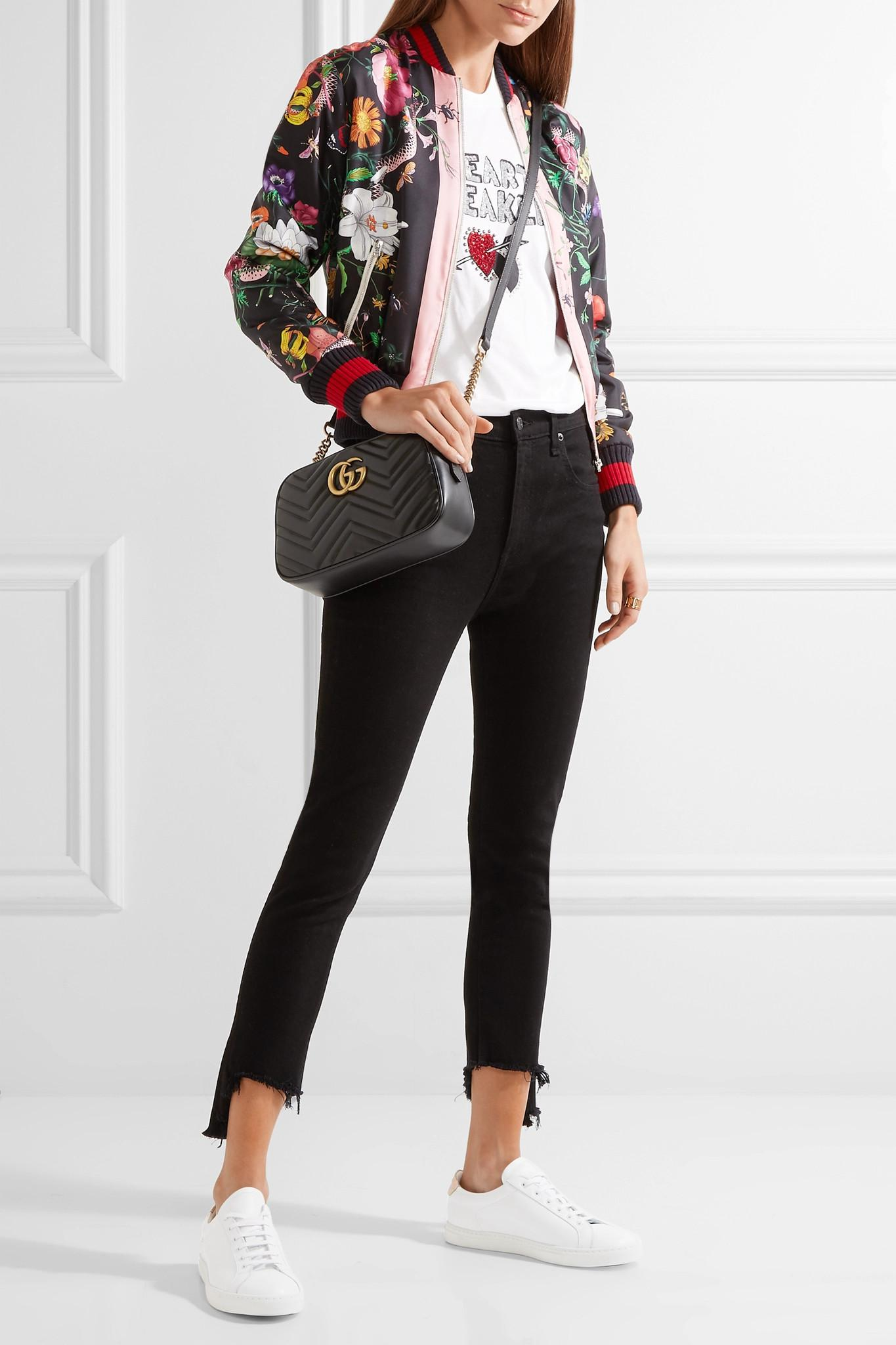 b71dd13857b Gucci - Black Gg Marmont Camera Small Quilted Leather Shoulder Bag - Lyst.  View fullscreen