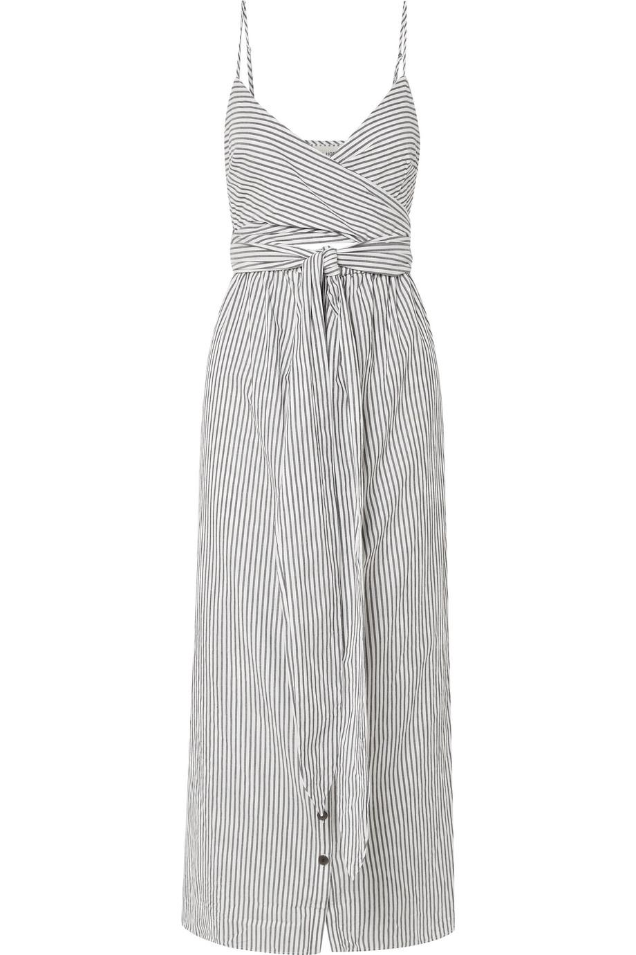 Thora Striped Organic Cotton Midi Dress - Gray Mara Hoffman Outlet Wide Range Of Discount New Styles ZsLg2