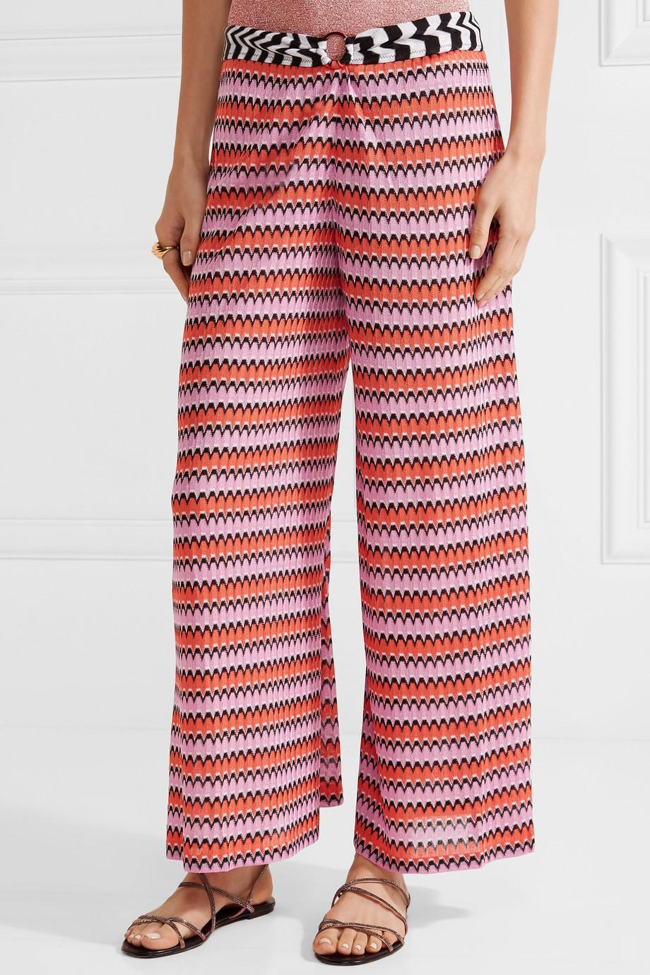 6b6ad9d89a97b Lyst - Missoni Mare Cropped Crochet-knit Wide-leg Pants in Pink