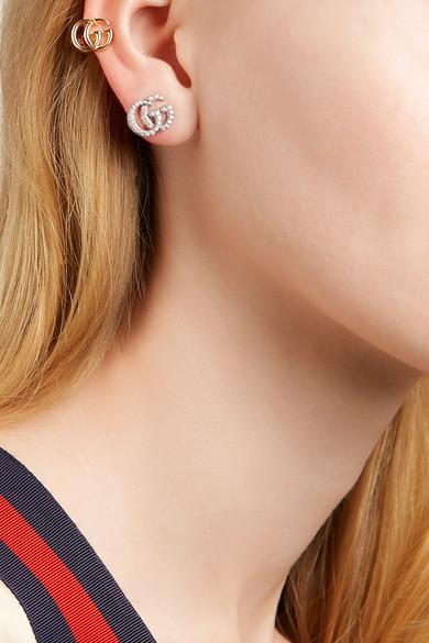 b01f1bc7d Gucci 18-karat Gold Clip Earring in Metallic - Lyst