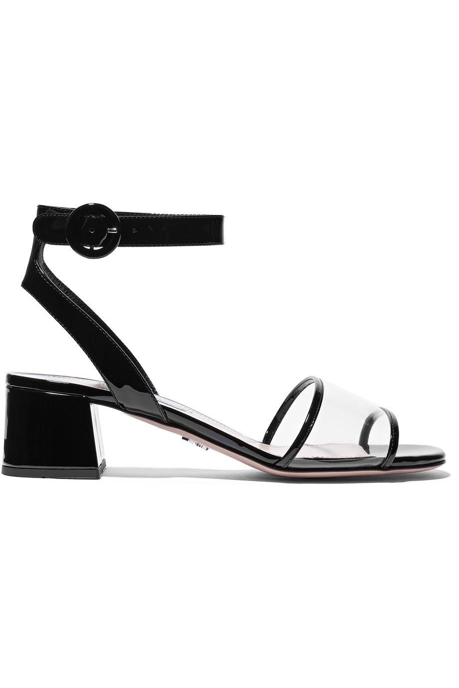 Patent-leather And Pvc Sandals - Black Prada HgptBKqt1P