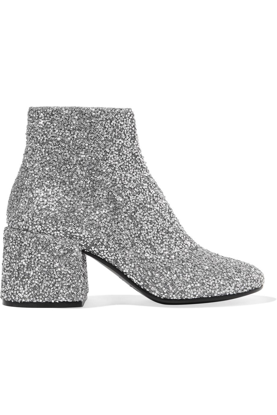 MM6 MAISON MARGIELA Bead-embellished ankle boots Browse Cheap Price Fake Cheap Online Cheap Sale Low Shipping Cheap Price Discount Authentic FF1QE6rl