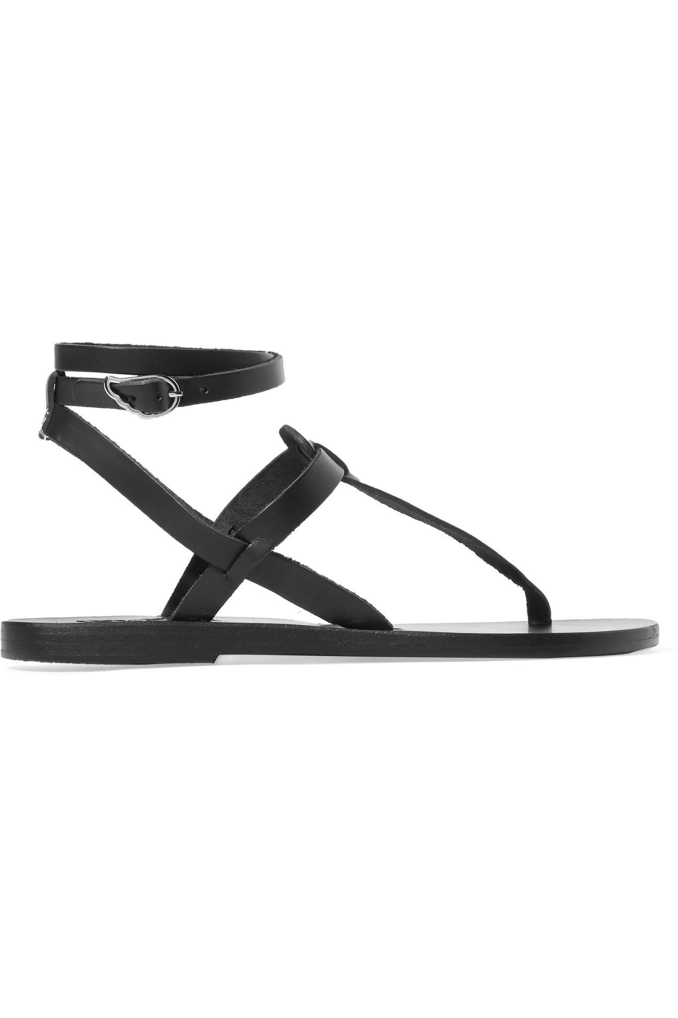 2d7abc80b2d5f4 Lyst - Ancient Greek Sandals Estia Leather Sandals in Black