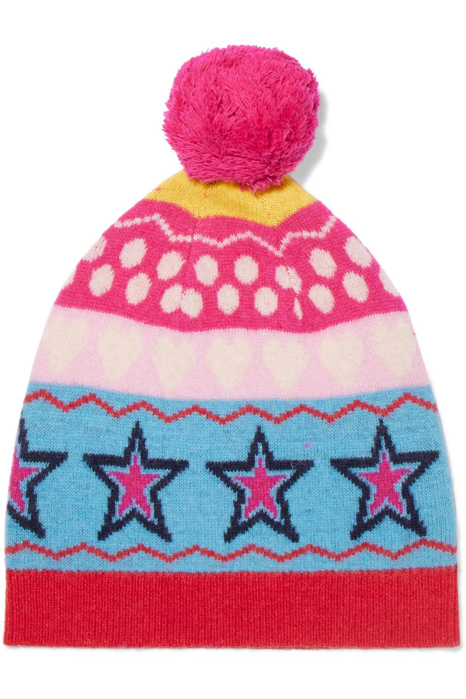 Ski Party Wool-jacquard Beanie - Pink Chinti and Parker WKKK9