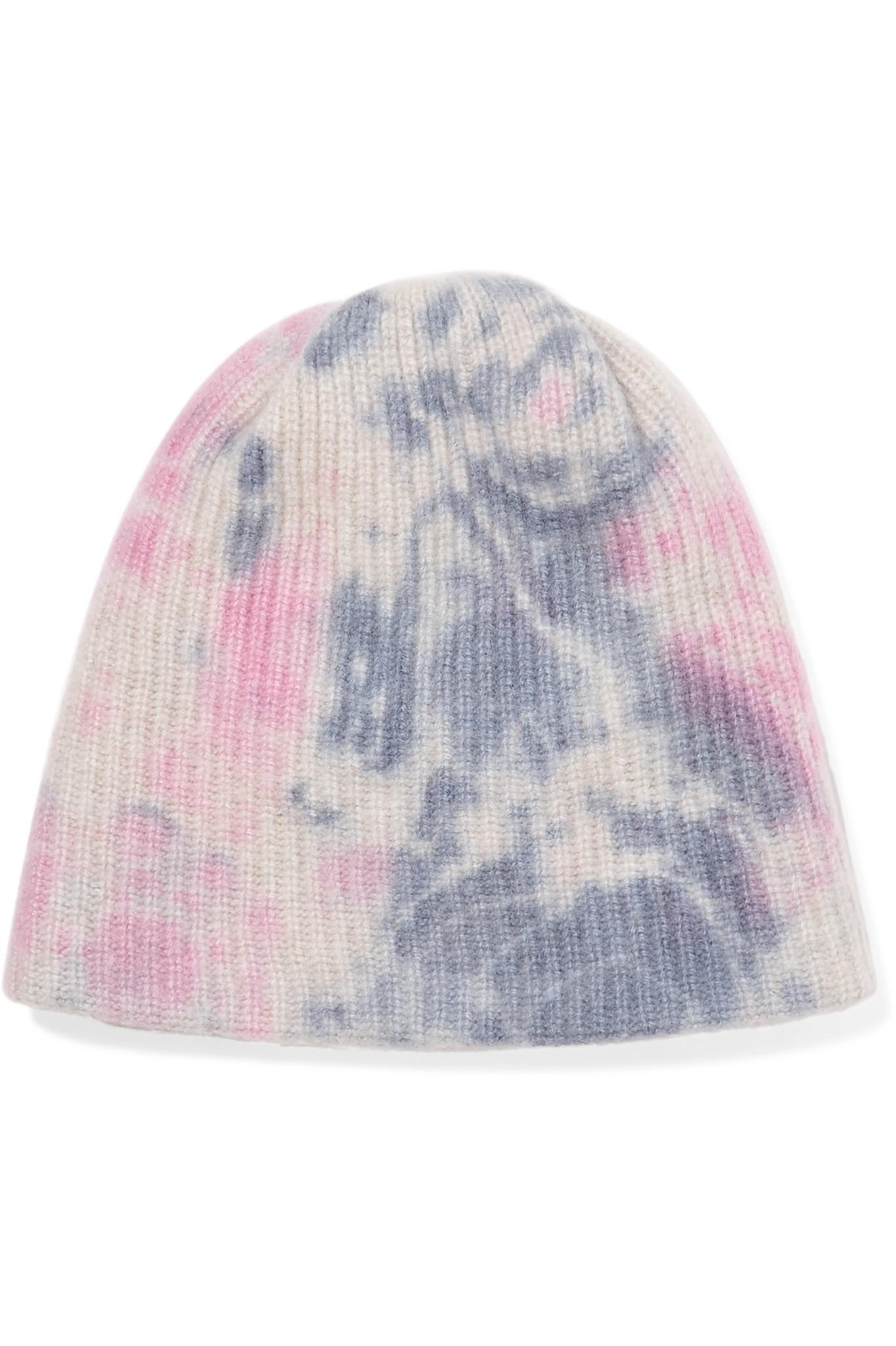 Watchman Tie-dyed Ribbed Cashmere Beanie - Pink The Elder Statesman NyTJEDOPrW