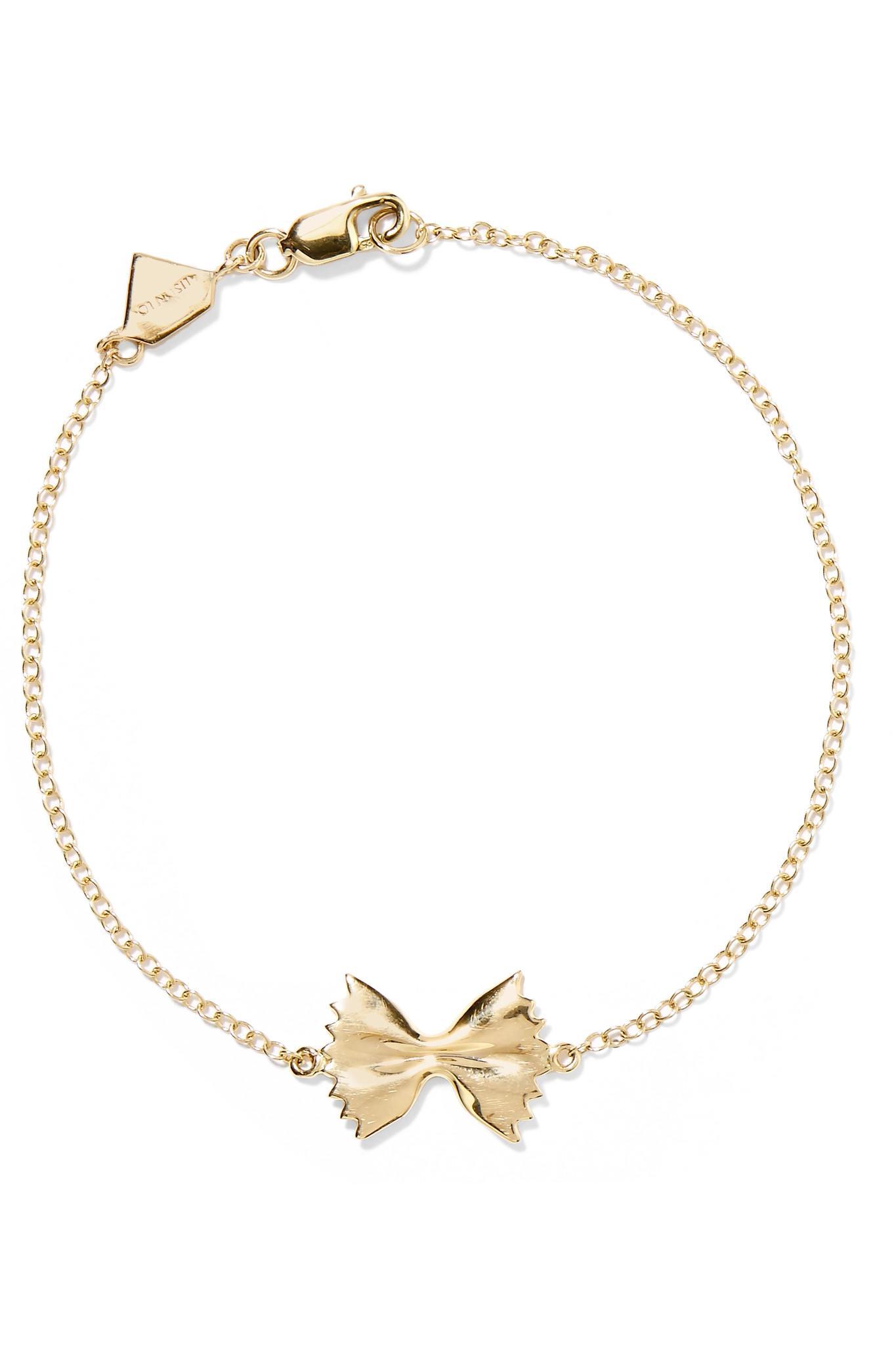 Alison Lou Kiss 14-karat Gold Enamel Bracelet UHifYBO2