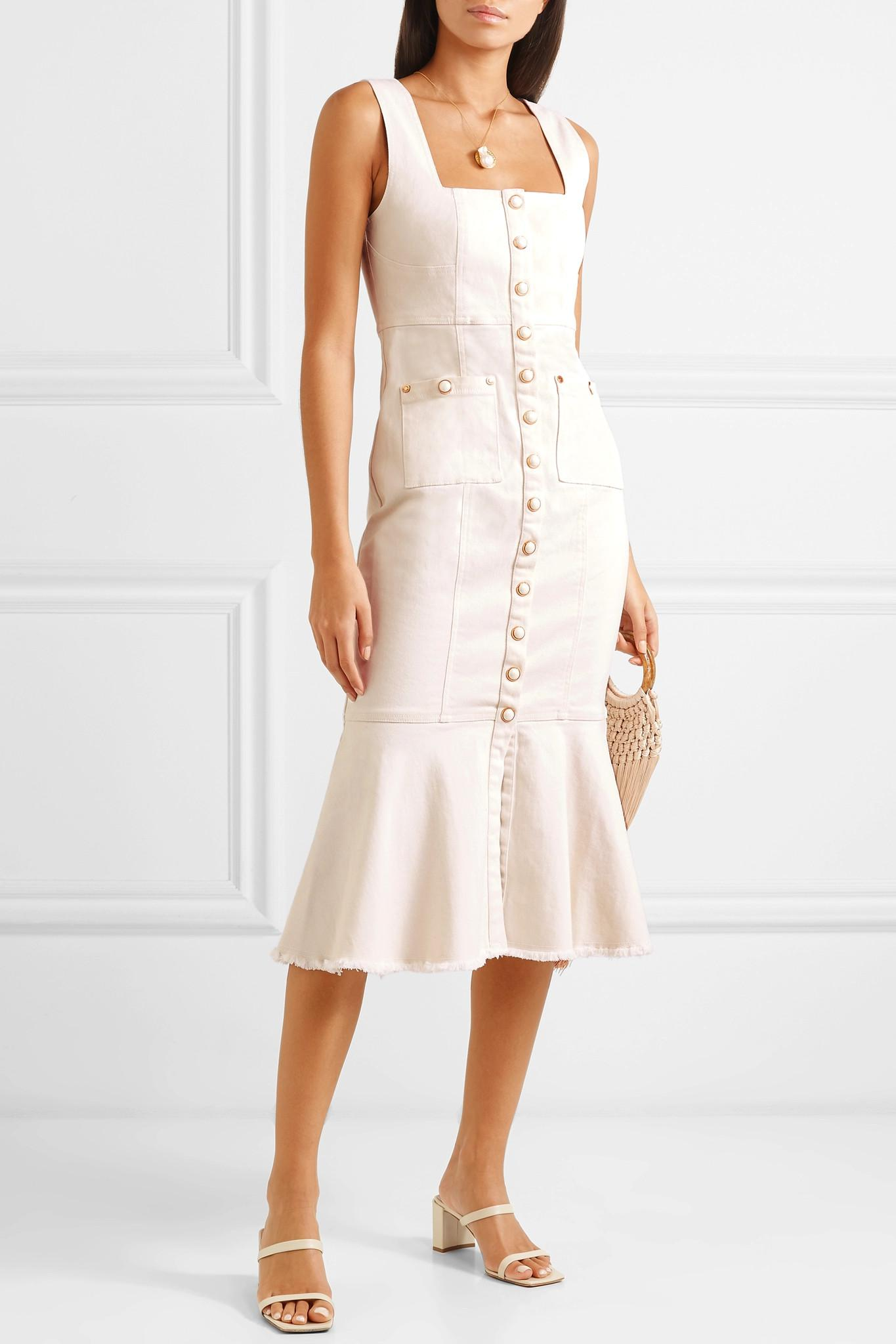 8fe222c746f Alice McCALL - White Like I Do Stretch-denim Dress - Lyst. View fullscreen