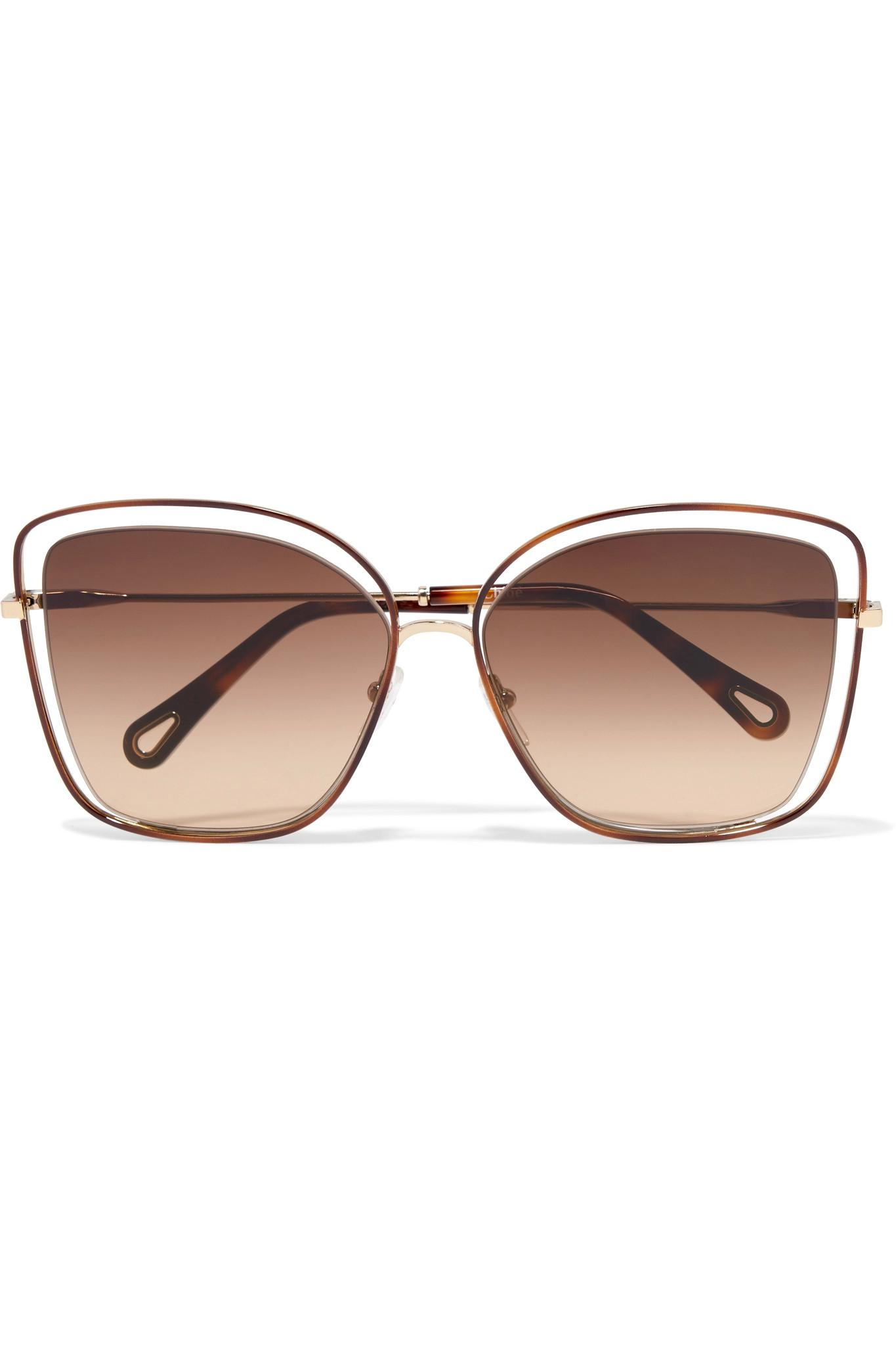 86057219d46 Chloé Poppy Sunglasses in Brown - Lyst