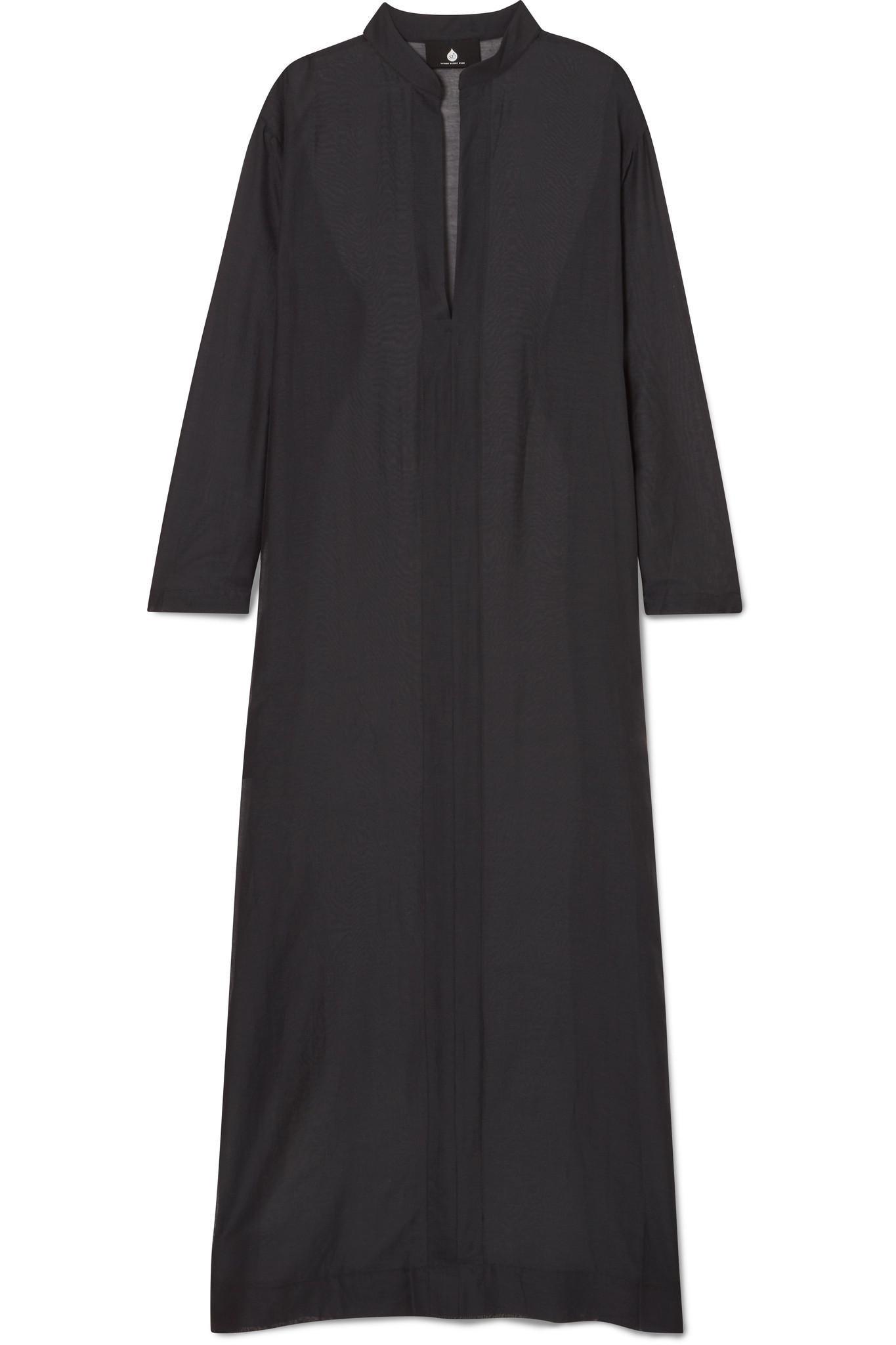 Gandu Cotton And Silk-blend Voile Kaftan - Black SU PARIS NHN8aLB4C9