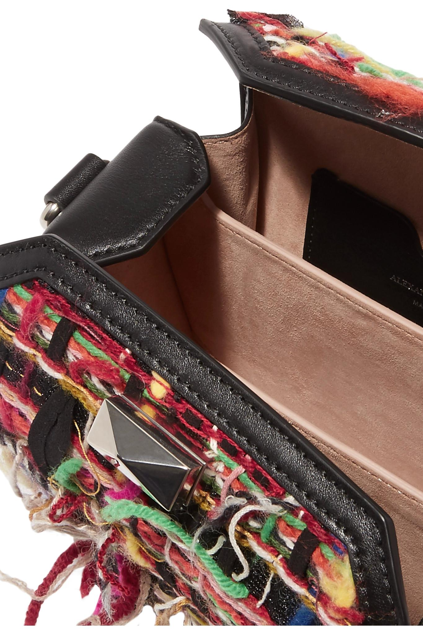 Box Bag 16 Small Fringed Tweed Shoulder Bag - Red Alexander McQueen 7fAQbZt