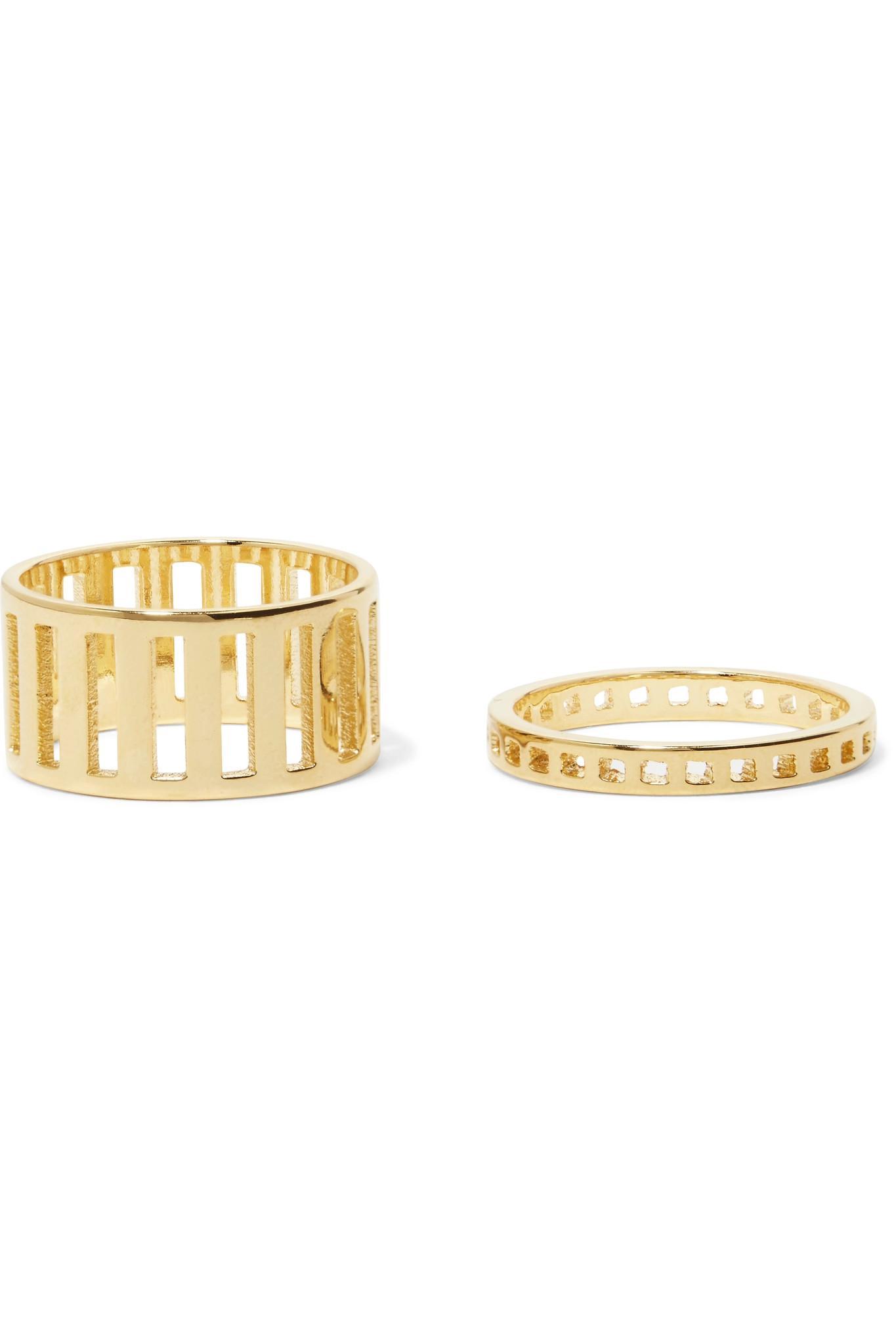 Arme De Lamour Woman Set Of Two Rose Gold-tone Rings Silver Size 6 Arme De L'Amour hKKfk4I1