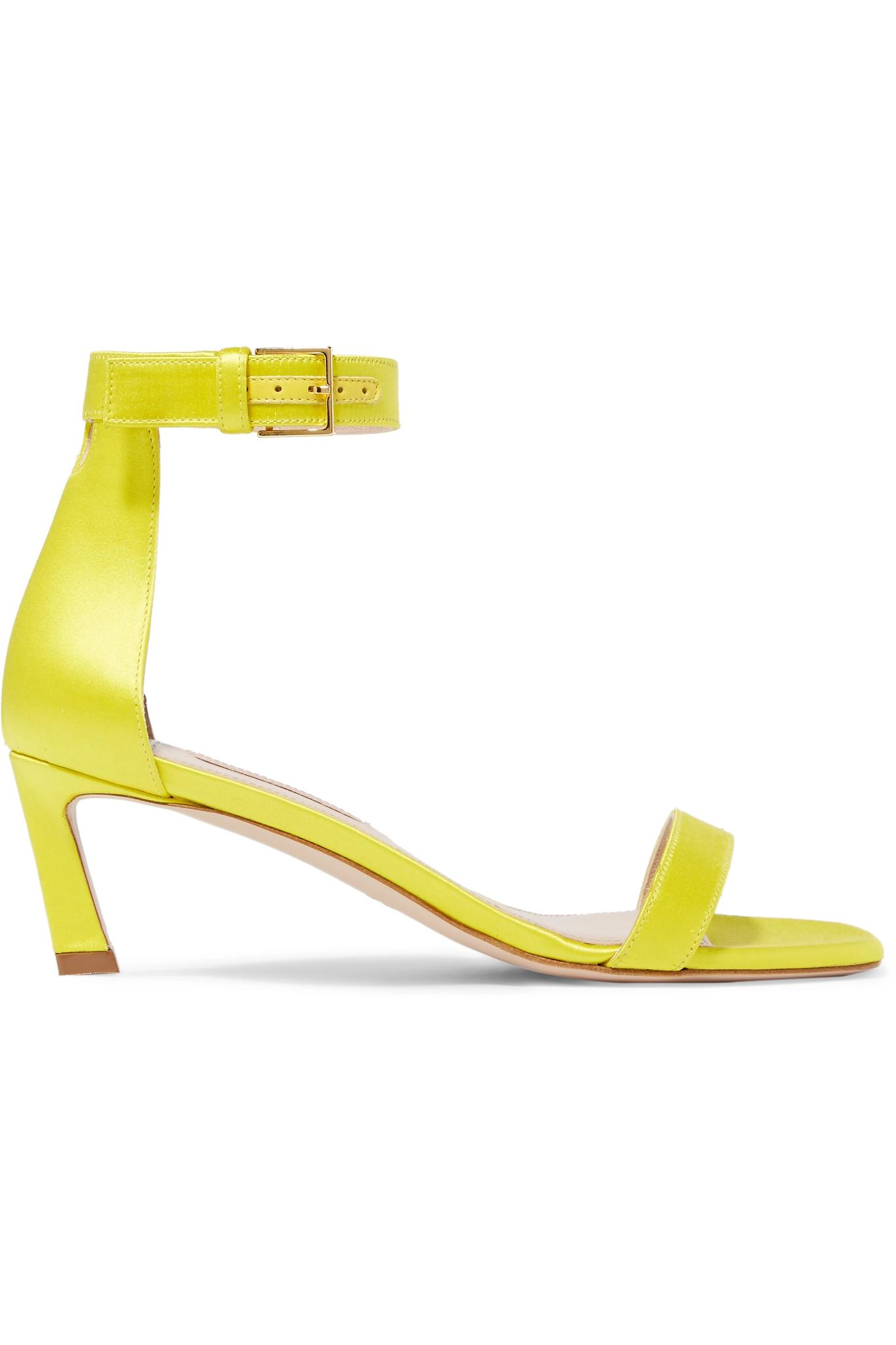 Squarenudist Satin Sandals - Yellow Stuart Weitzman VLbA3