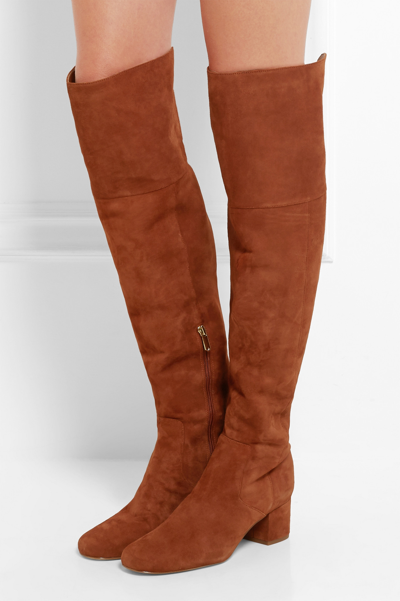bfac12ea20a Lyst - Sam Edelman Elina Suede Over-the-knee Boots in Brown