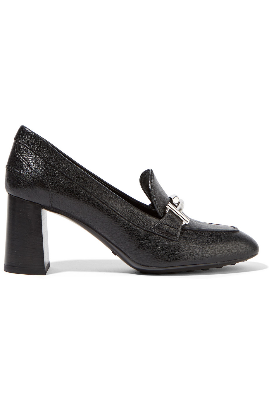 tod s embellished textured leather pumps in black lyst