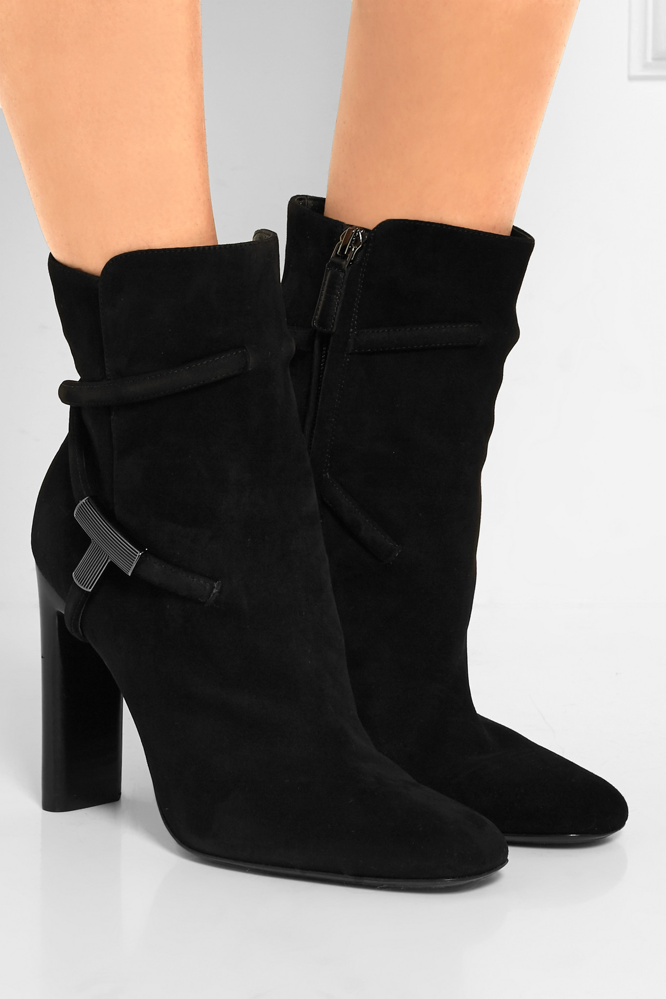 tom ford suede ankle boots in black lyst
