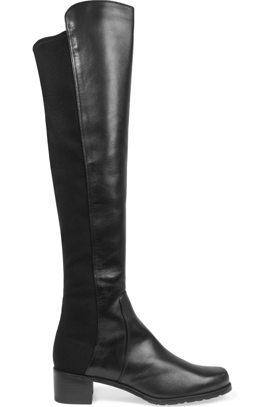 stuart weitzman reserve leather and stretch the knee