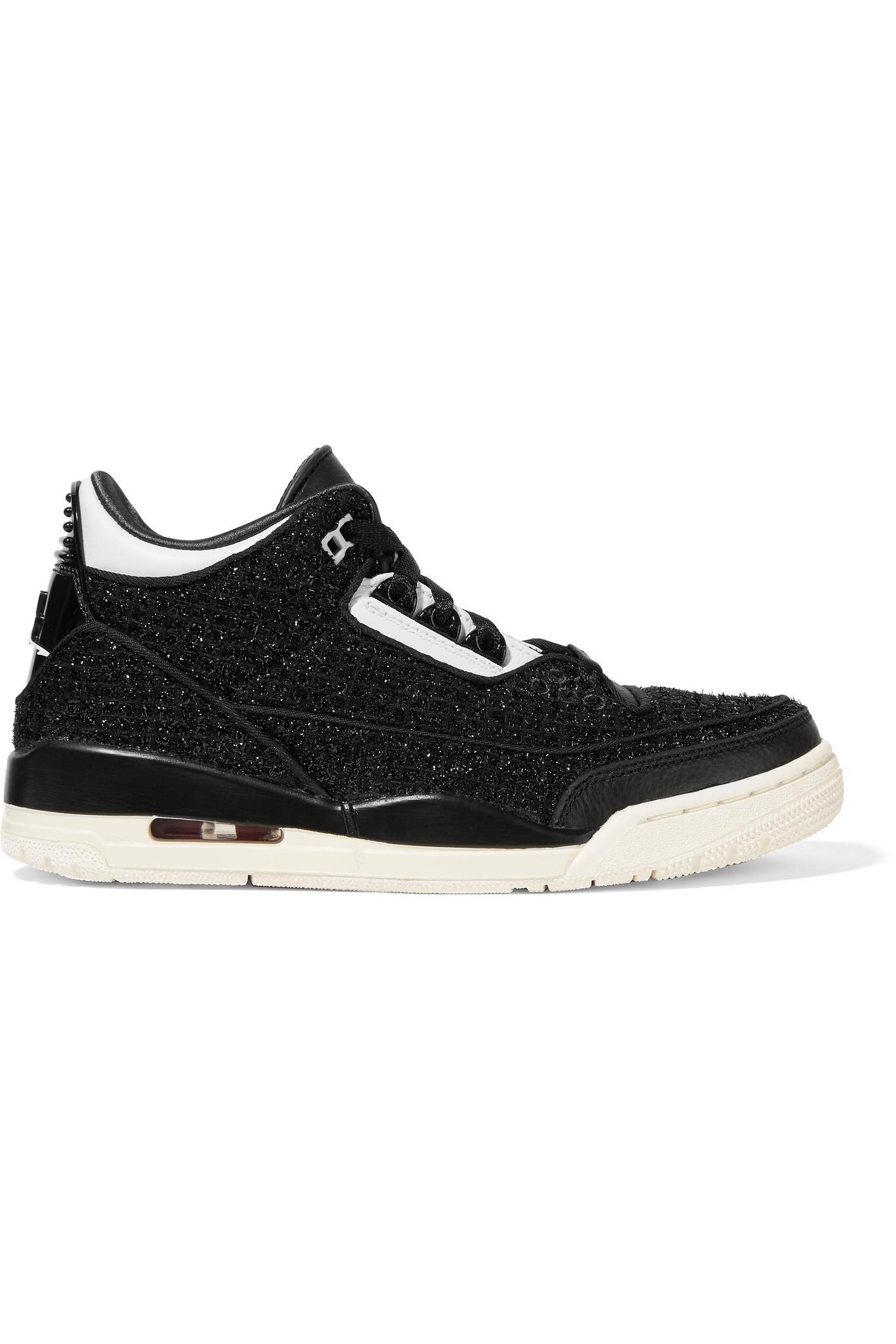 475023912089 Nike Air Jordan 3 Retro Se Awok Leather-trimmed Metallic Tweed ...