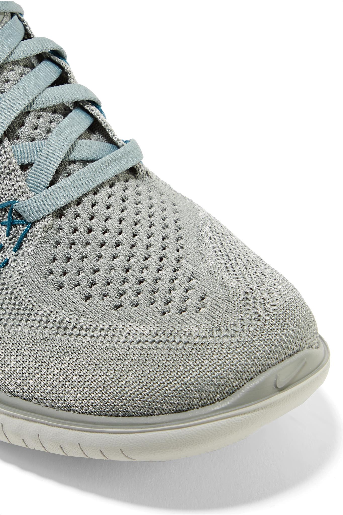 482141ee3ad3a Nike - Gray Free Rn Flyknit Sneakers - Lyst. View fullscreen