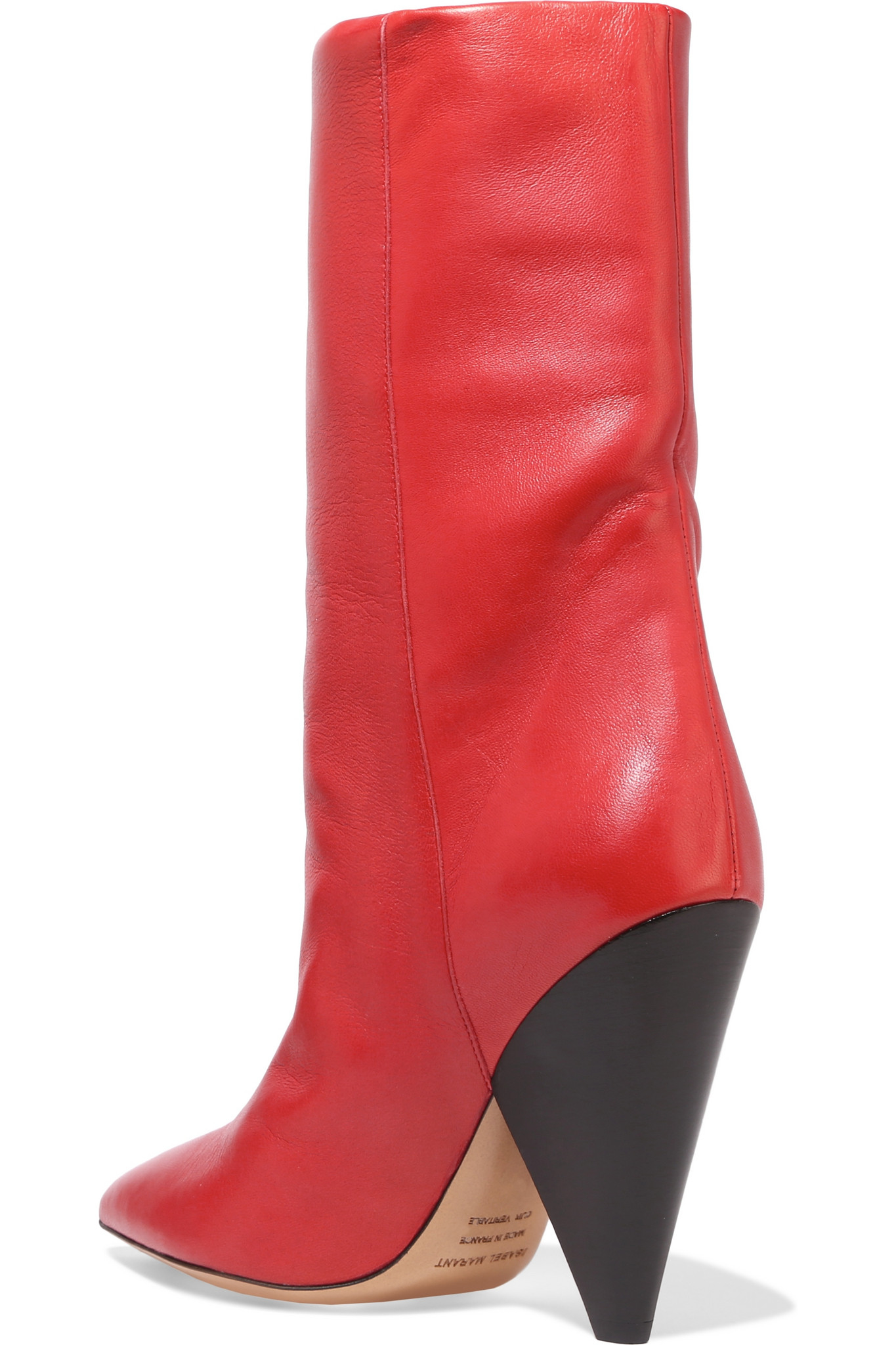 Isabel Marant Lexing Leather Knee High Boots In Red Lyst