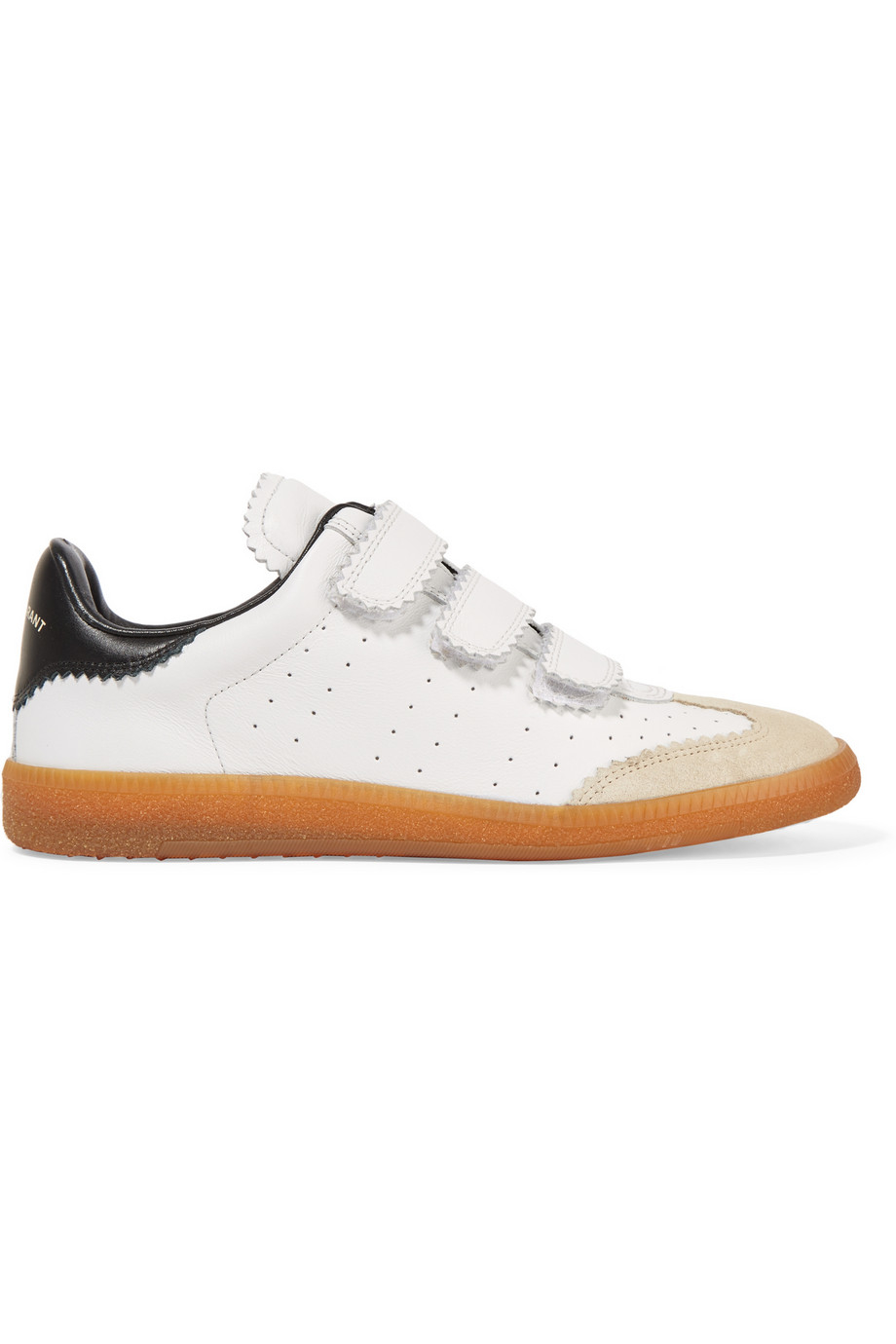 marant 201 toile beth perforated leather sneakers in