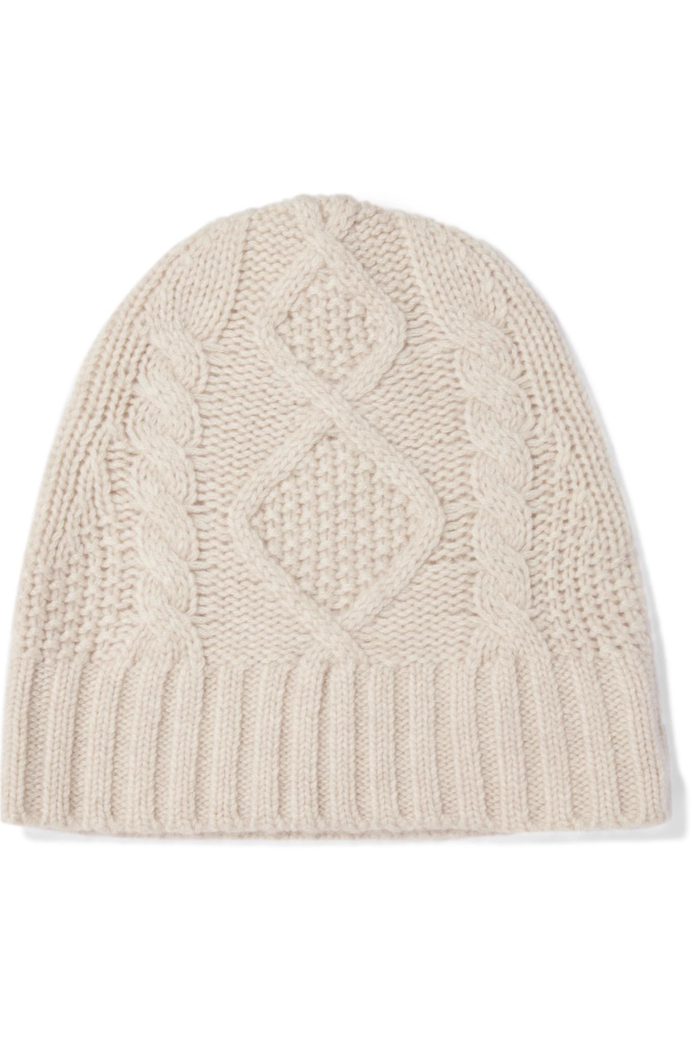 Cable-knit Wool And Cashmere-blend Beanie - Black Frame Denim zFPumFL5H