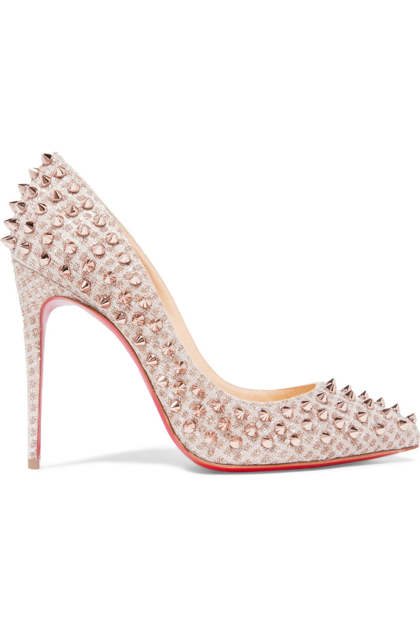 louboutin pigalle 100 studded pumps