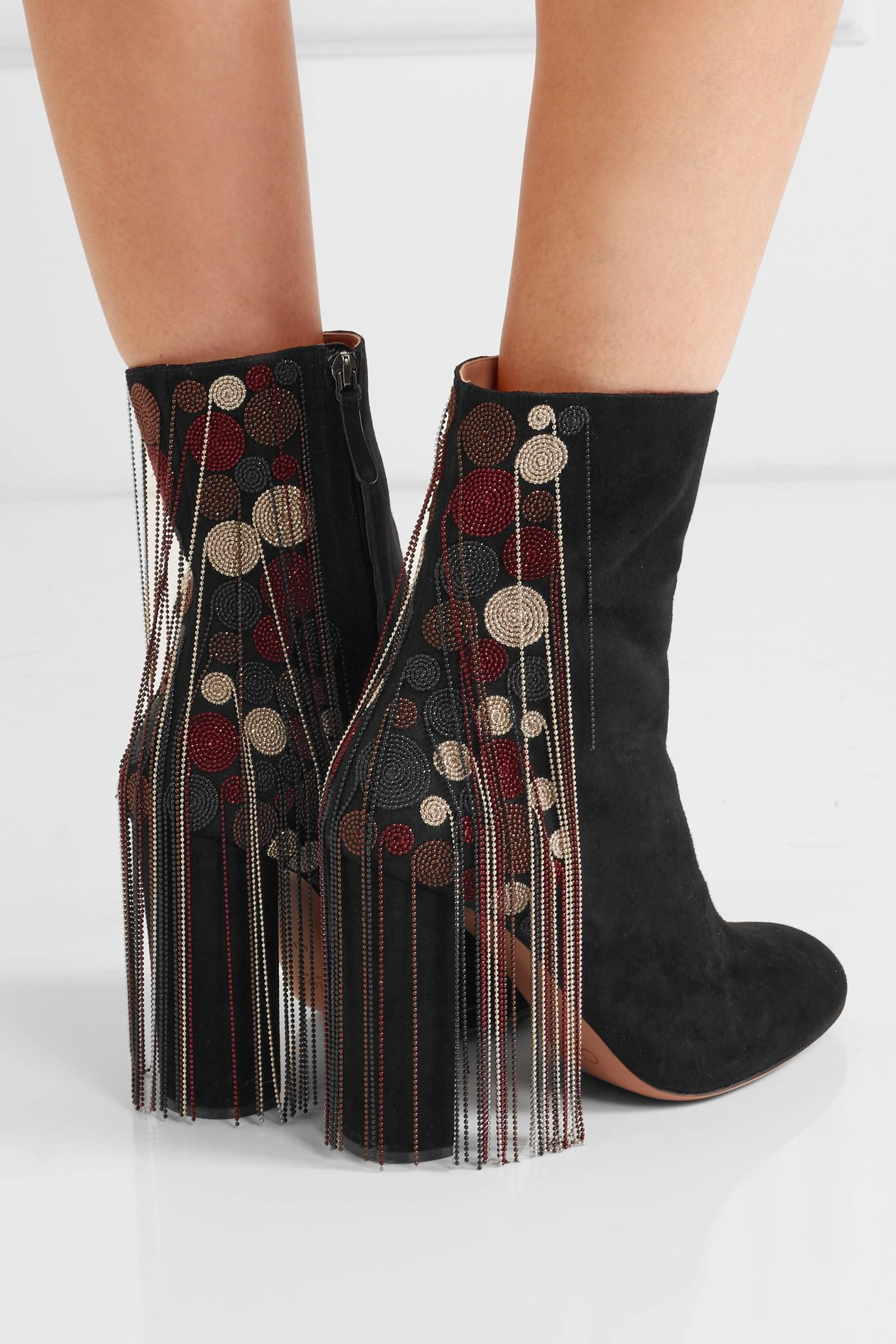 clearance shop for Chloé Fringe Suede Booties buy cheap shop geniue stockist cheap online for sale cheap price from china syuWjV