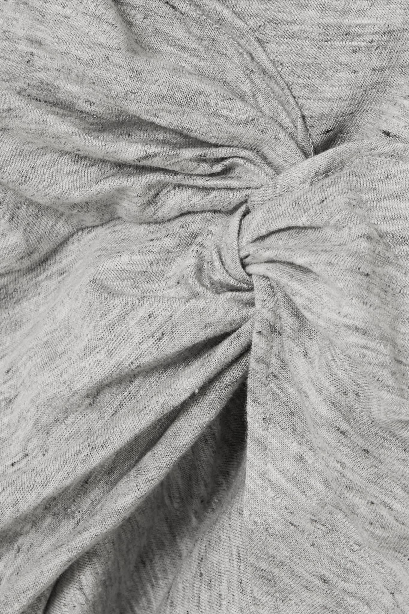 Brelbloa Knotted Cotton-blend Jersey Mini Dress - Gray Iro efaBNMC1