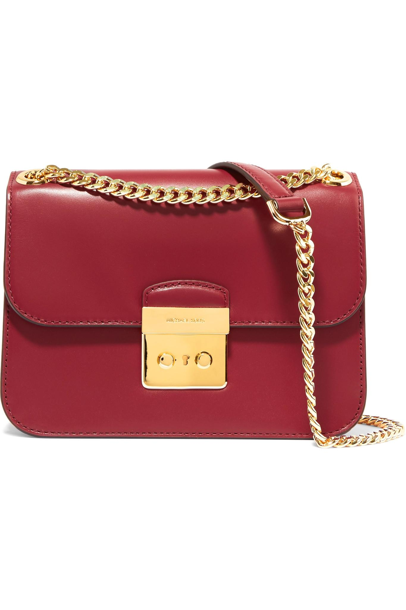6d50a58c7985 MICHAEL Michael Kors Sloan Editor Leather Shoulder Bag in Red - Lyst