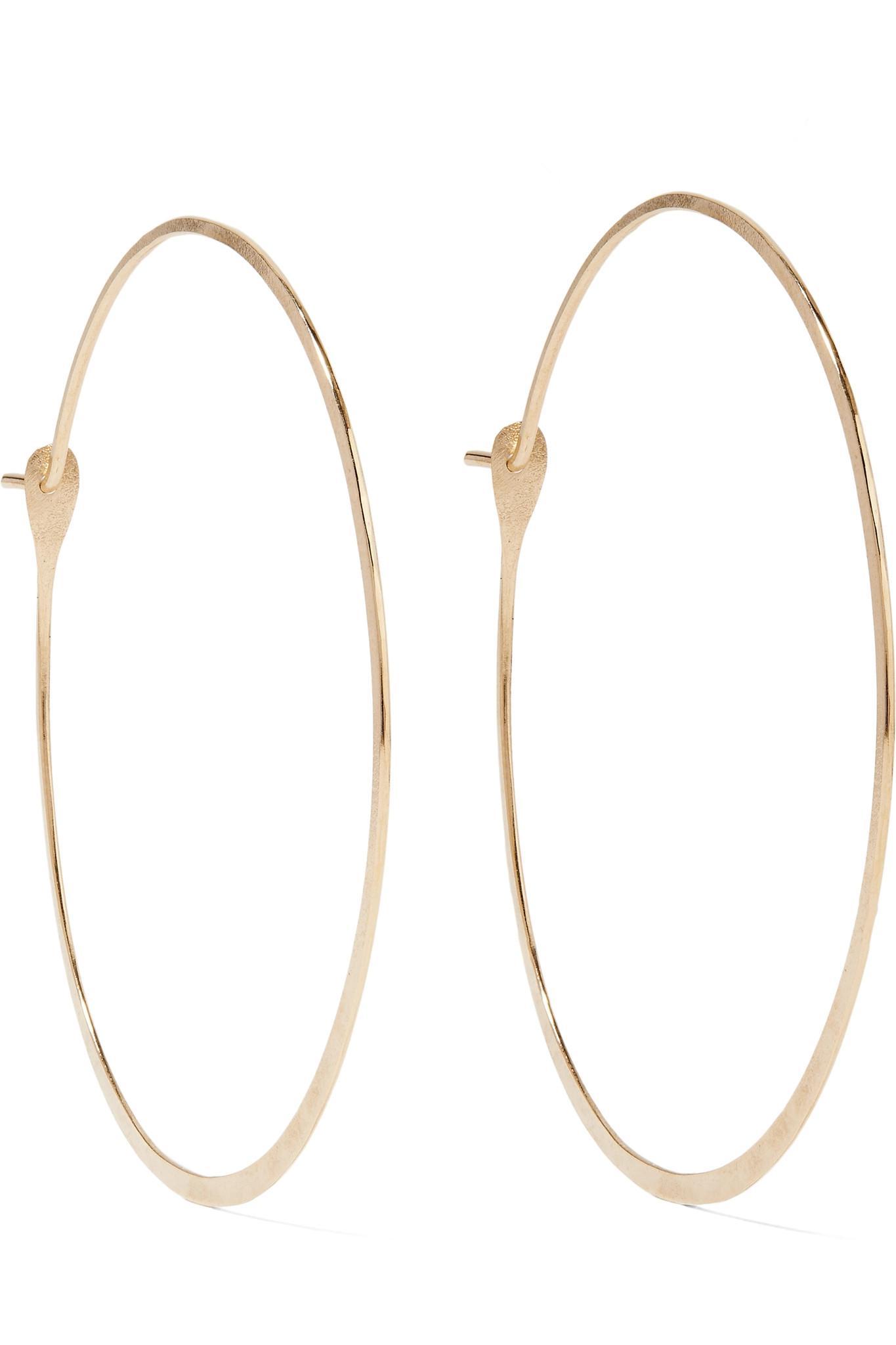 Melissa Joy Manning 14-karat Gold Multi-stone Hoop Earrings 66RwSIWV