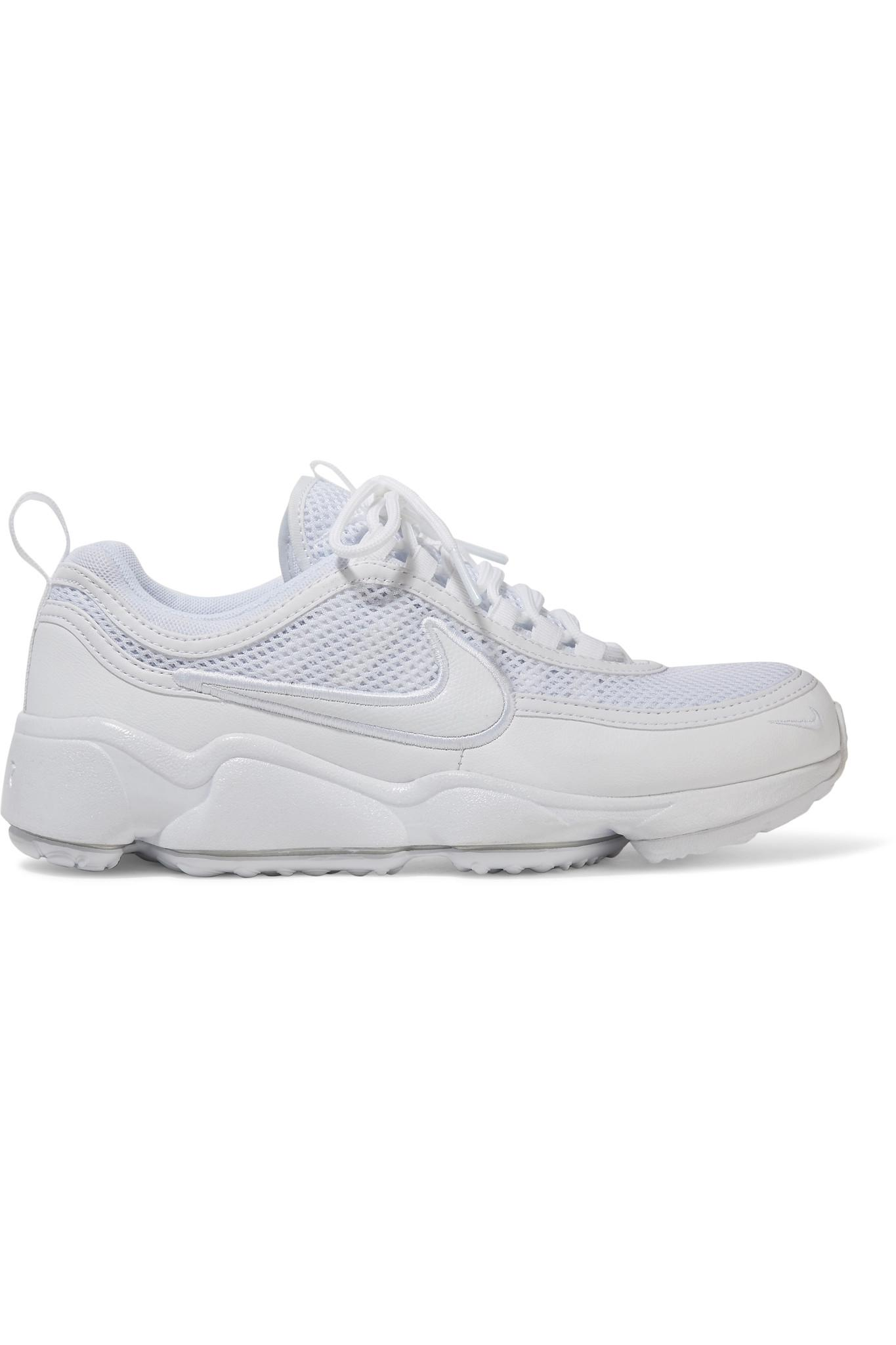 85009153d483c Lyst - Nike Air Zoom Spiridon Ultra Leather And Mesh Sneakers in White