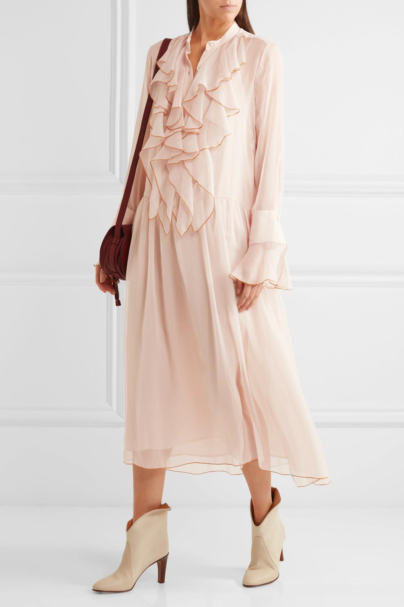 Silk-chiffon dress See By Chlo SwFdWerI5